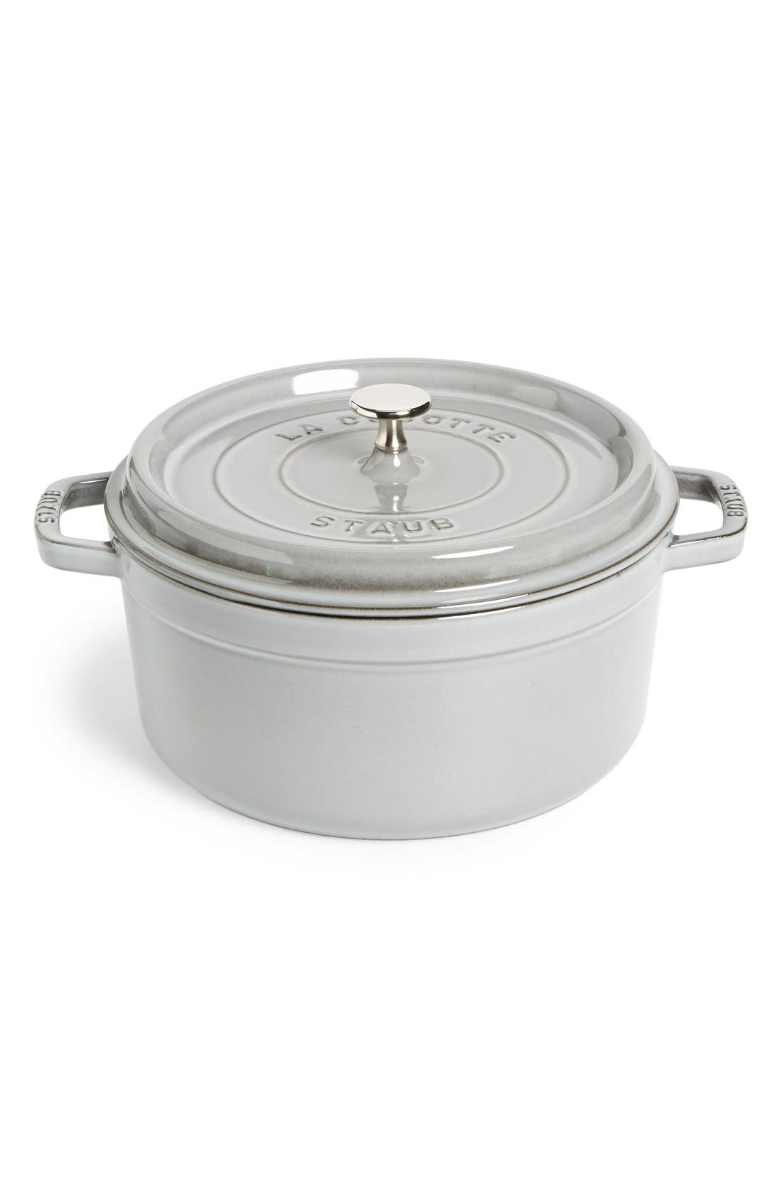Alternate Image 1 Selected - Staub Small 5 1/2 Round Quart Enameled Cast Iron Cocotte
