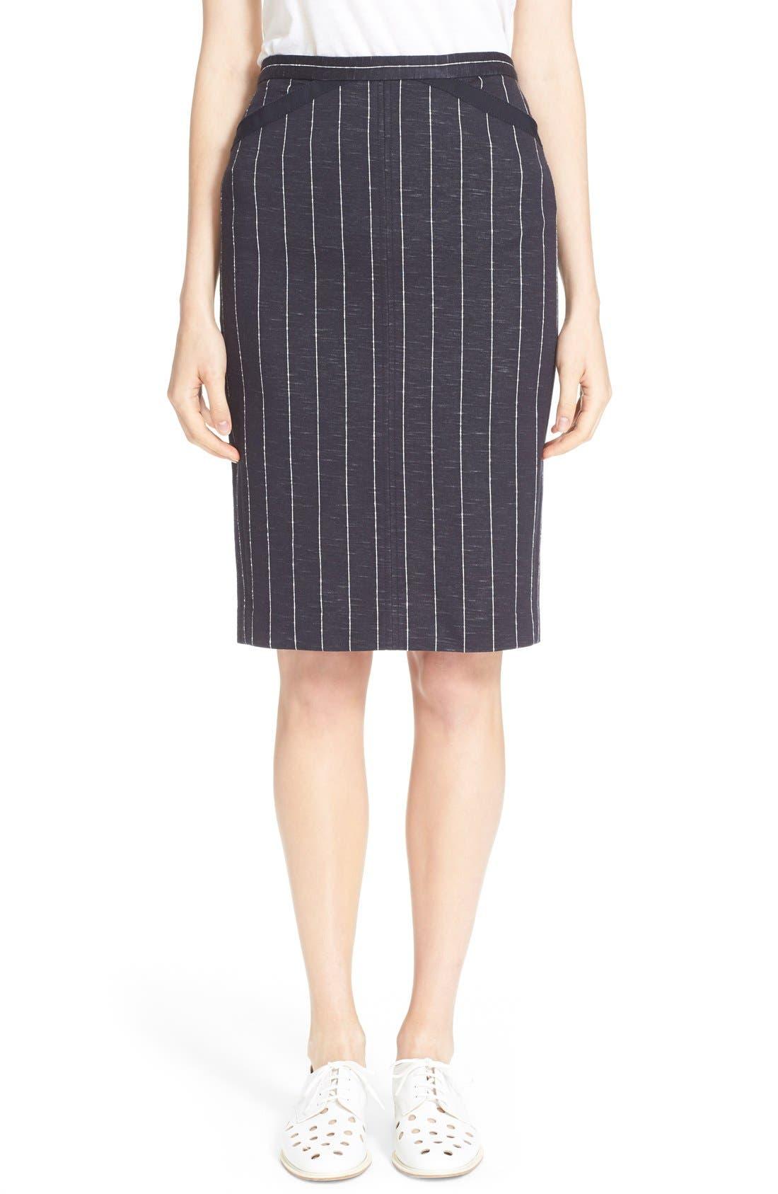 Alternate Image 1 Selected - ATM Anthony Thomas Melillo Stripe Pencil Skirt