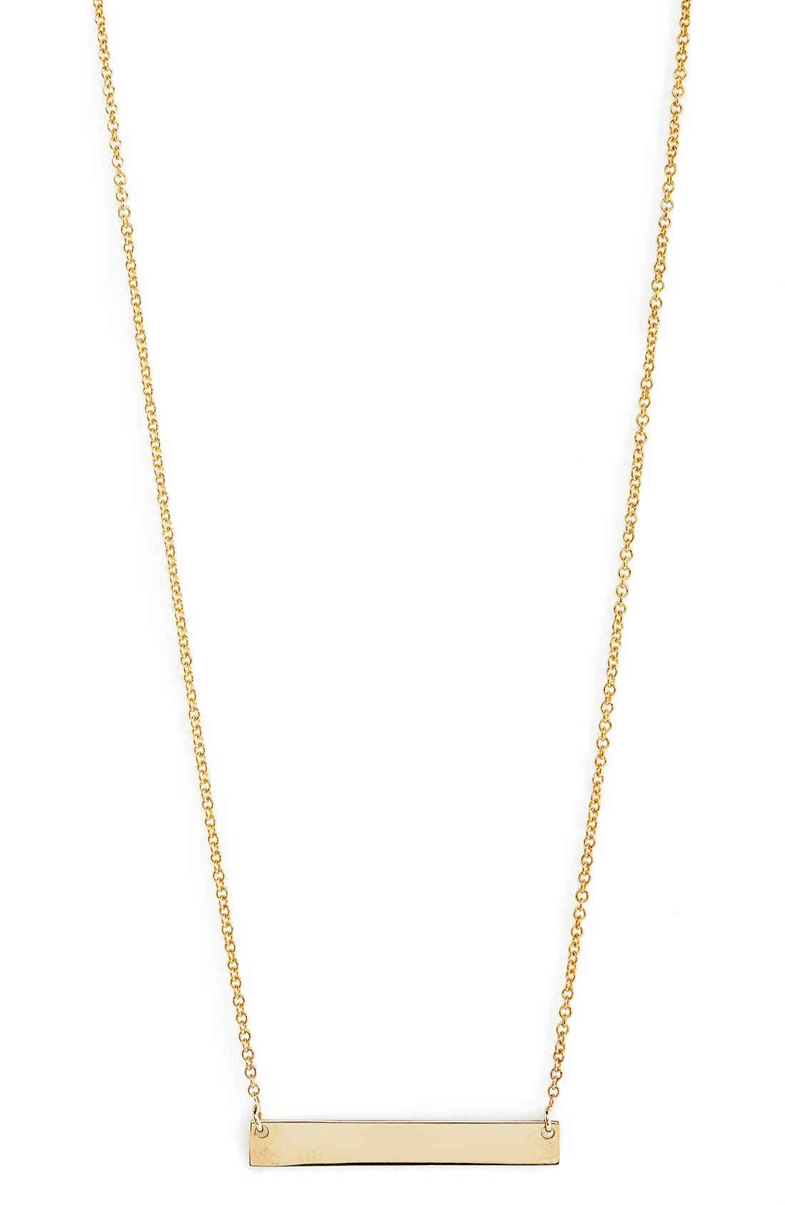 Main Image - Bony Levy 14k Gold Bar Pendant Necklace (Nordstrom Exclusive)