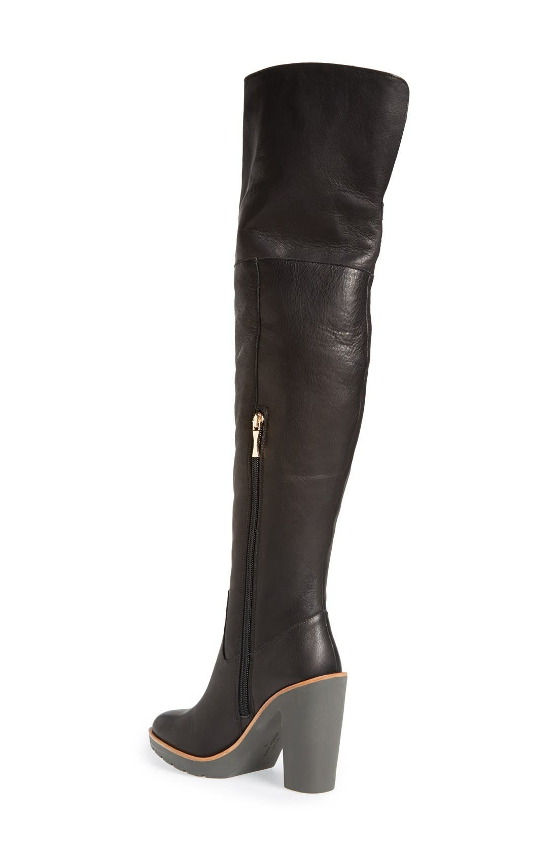 Alternate Image 2  - kate spade new york 'gabby' genuine shearling lined over the knee boot (Women)
