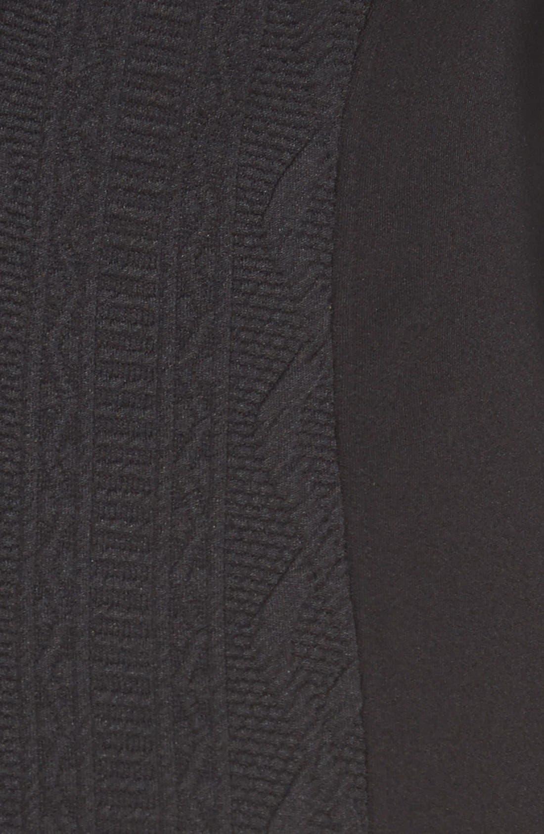 'Telsa' Maternity Dress,                             Alternate thumbnail 5, color,                             Black