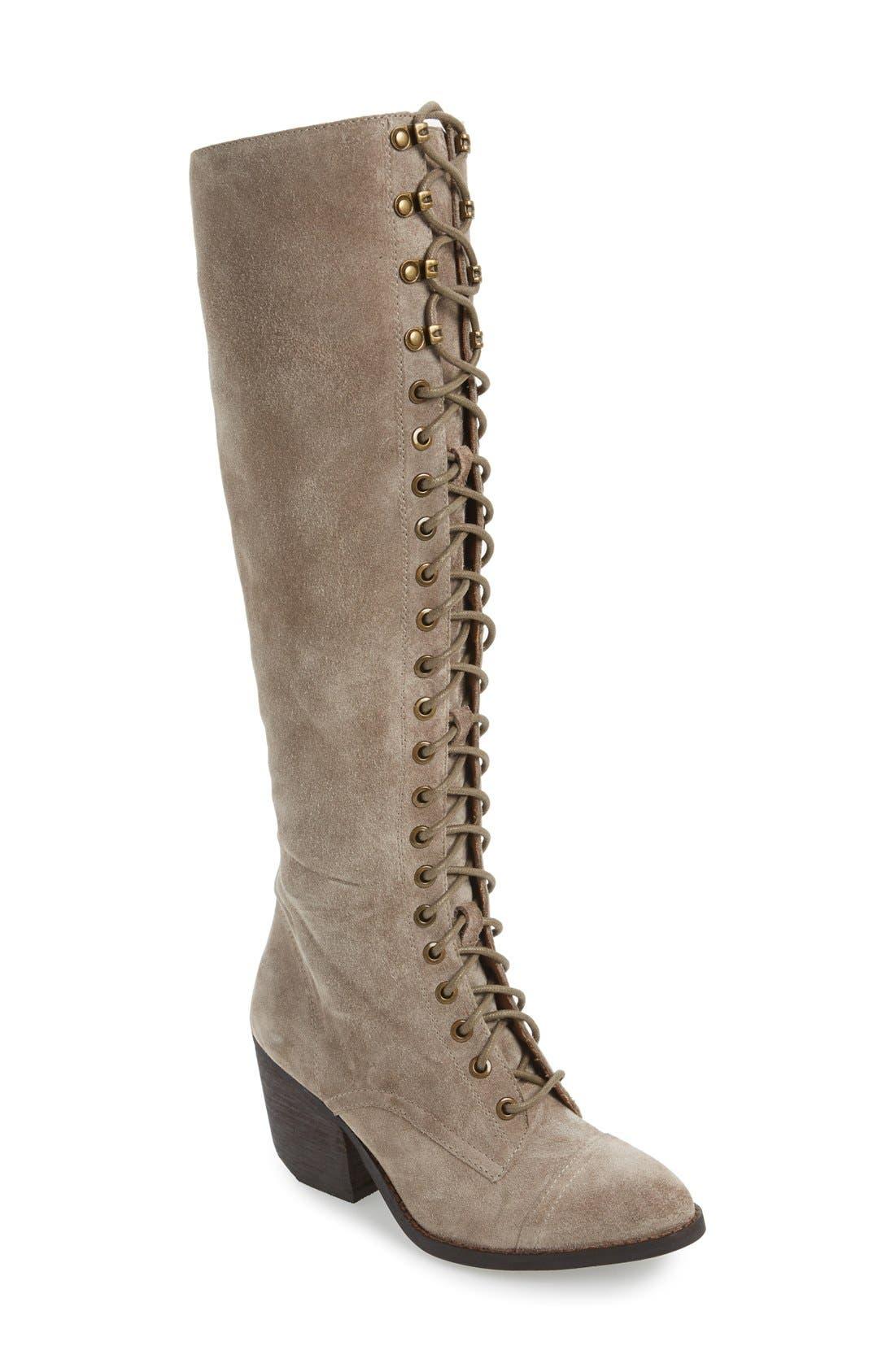 Main Image - Jeffrey Campbell 'Kandace' Lace-Up Tall Boot (Women)