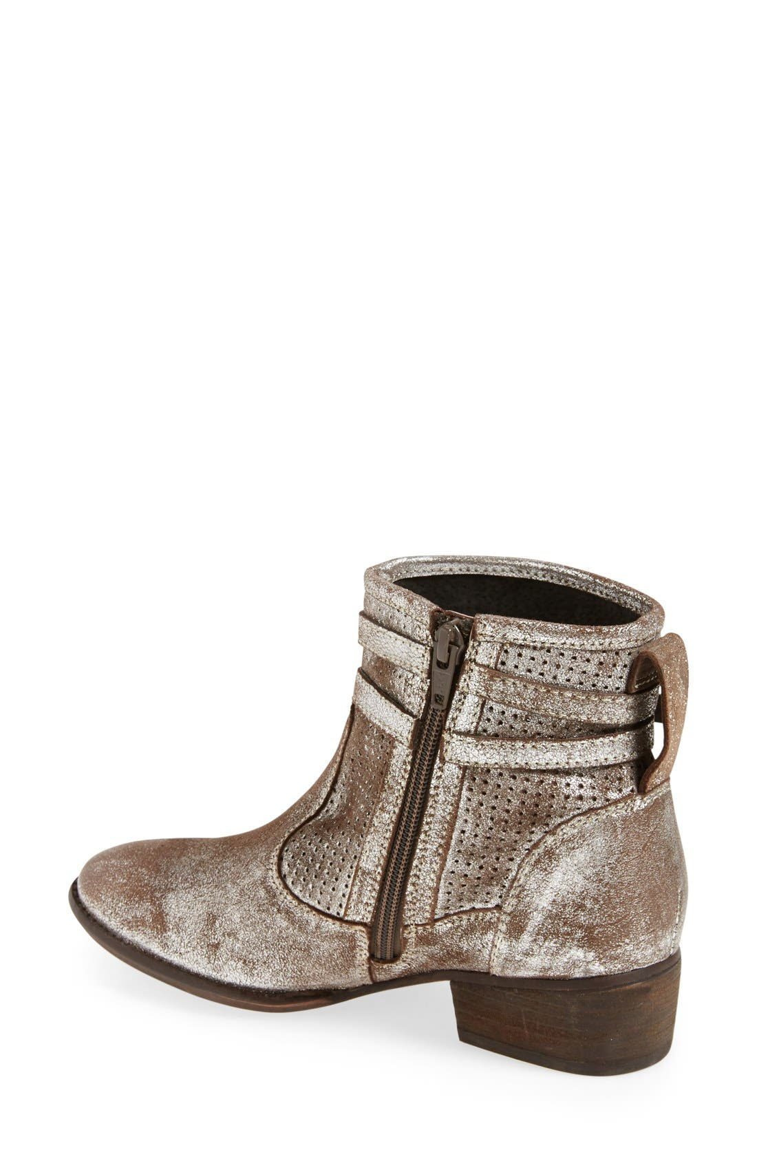 'Sanctuary' Suede Bootie,                             Alternate thumbnail 2, color,                             Pewter Suede