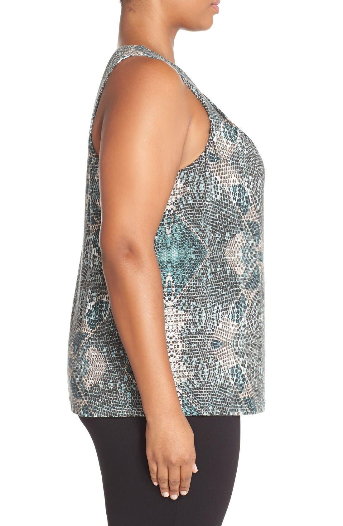 Alternate Image 3  - Tart 'Jewell' Pleat Neck Print Top (Plus Size)