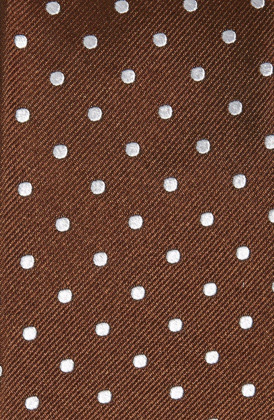 Alternate Image 2  - Gitman Polka Dot Silk Tie (X-Long)