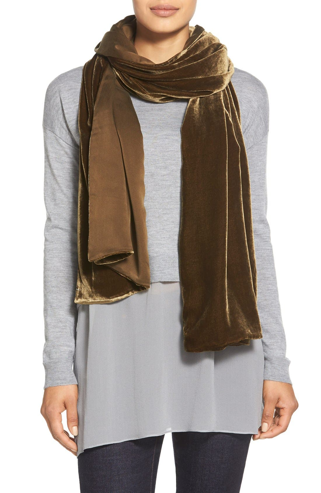 Alternate Image 1 Selected - Eileen Fisher Velvet Wrap