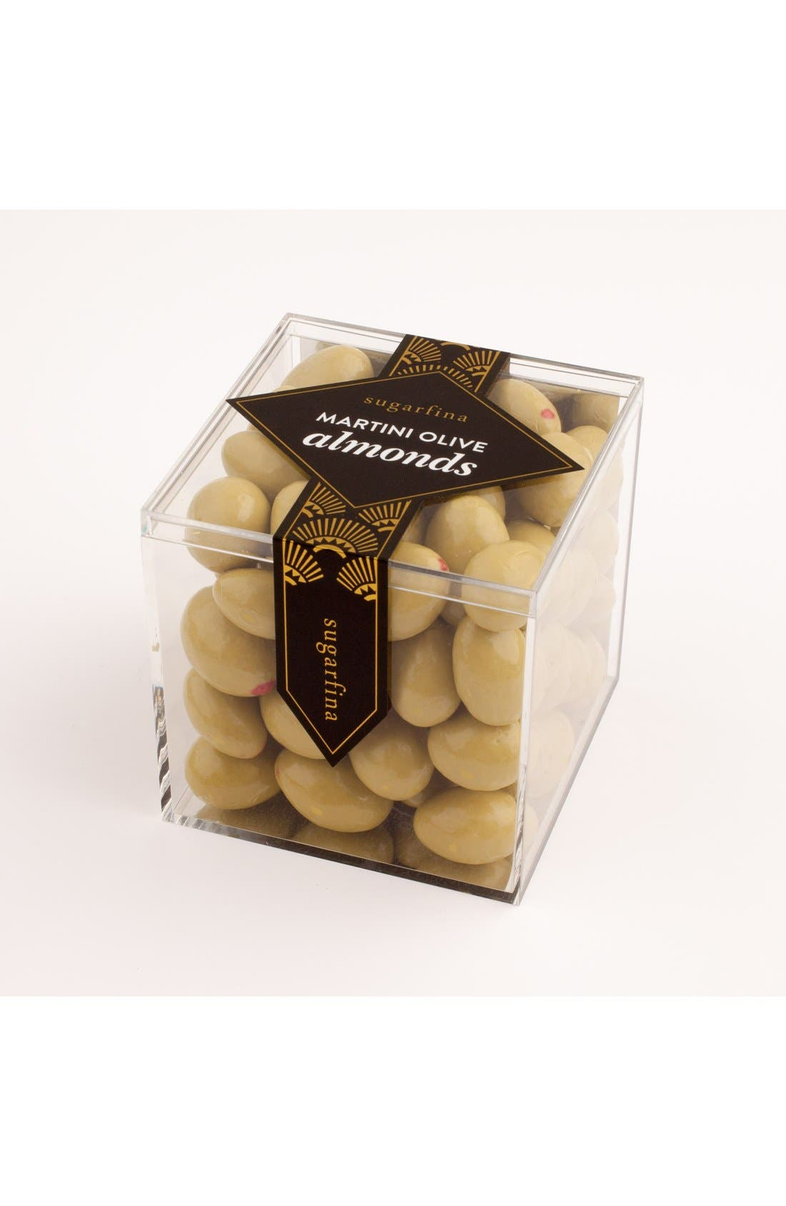 'Martini Olive' Chocolate Covered Almonds,                             Main thumbnail 1, color,                             Black/ Gold