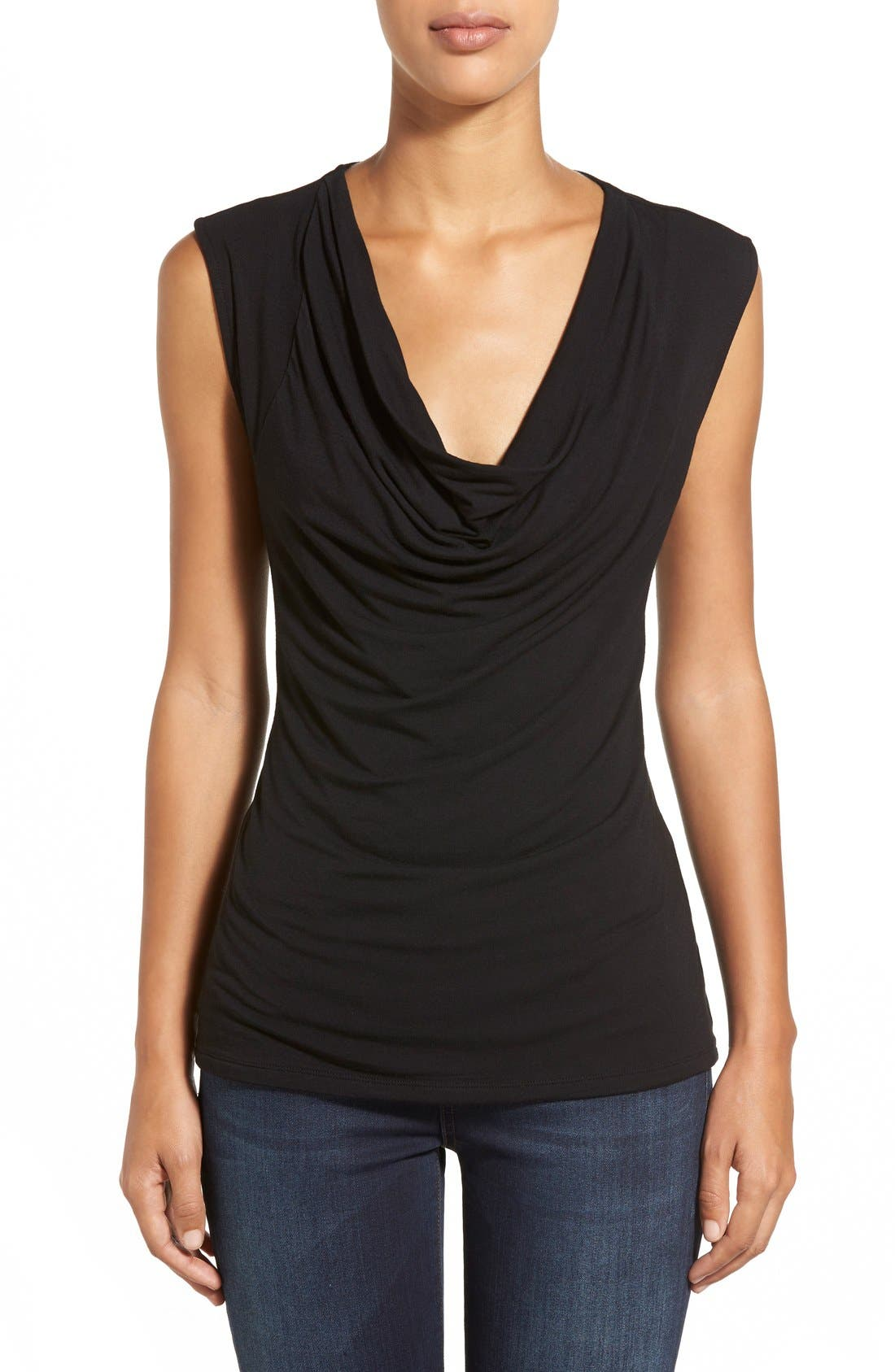 Alternate Image 1 Selected - Halogen® Cowl Neck Sleeveless Top (Regular & Petite)