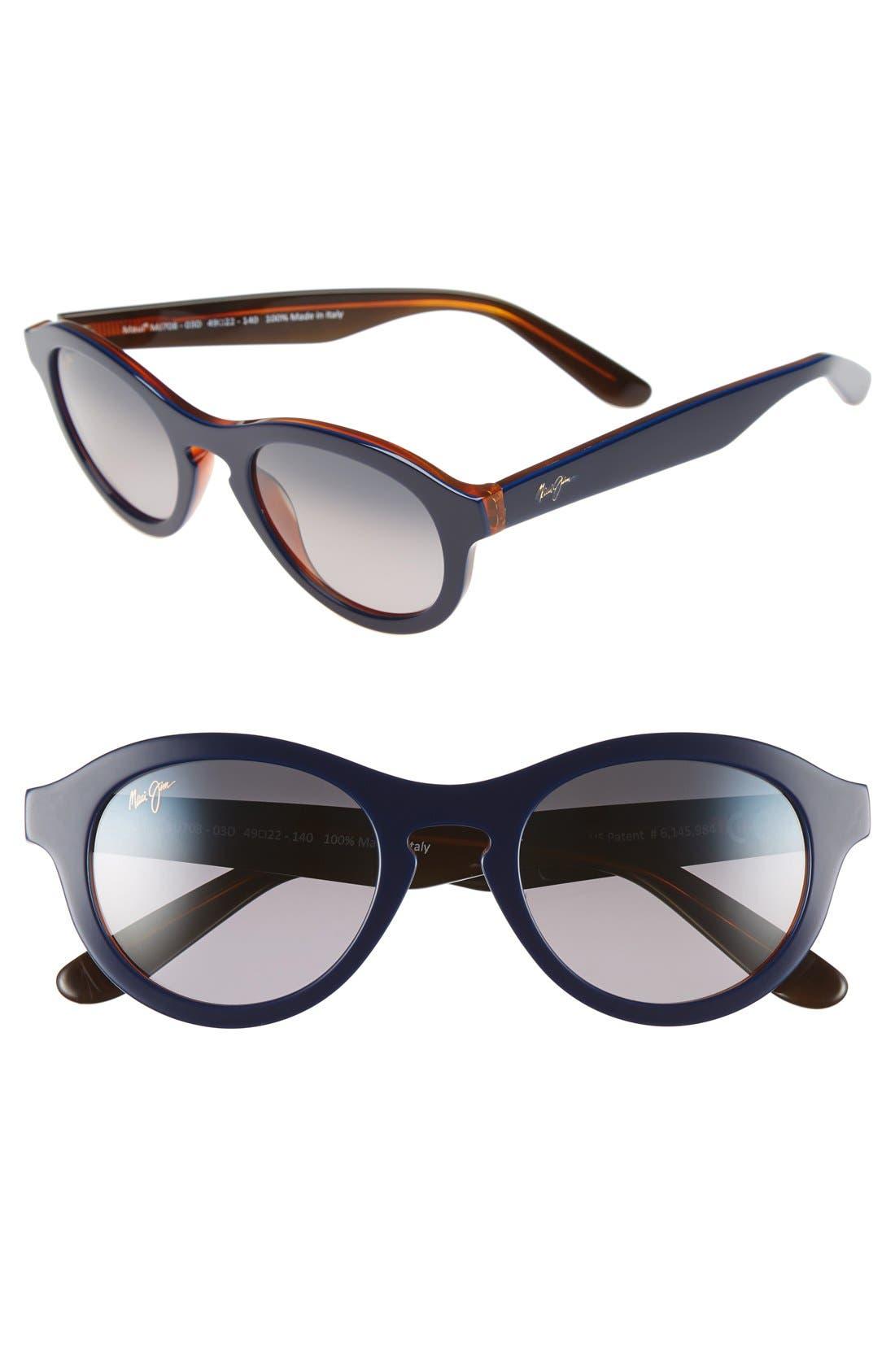 Maui Jim Leia 49mm PolarizedPlus2® Retro Sunglasses