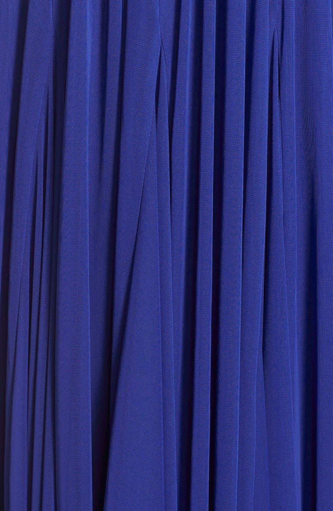 Embellished Tulle Halter Gown,                             Alternate thumbnail 5, color,                             Neptune