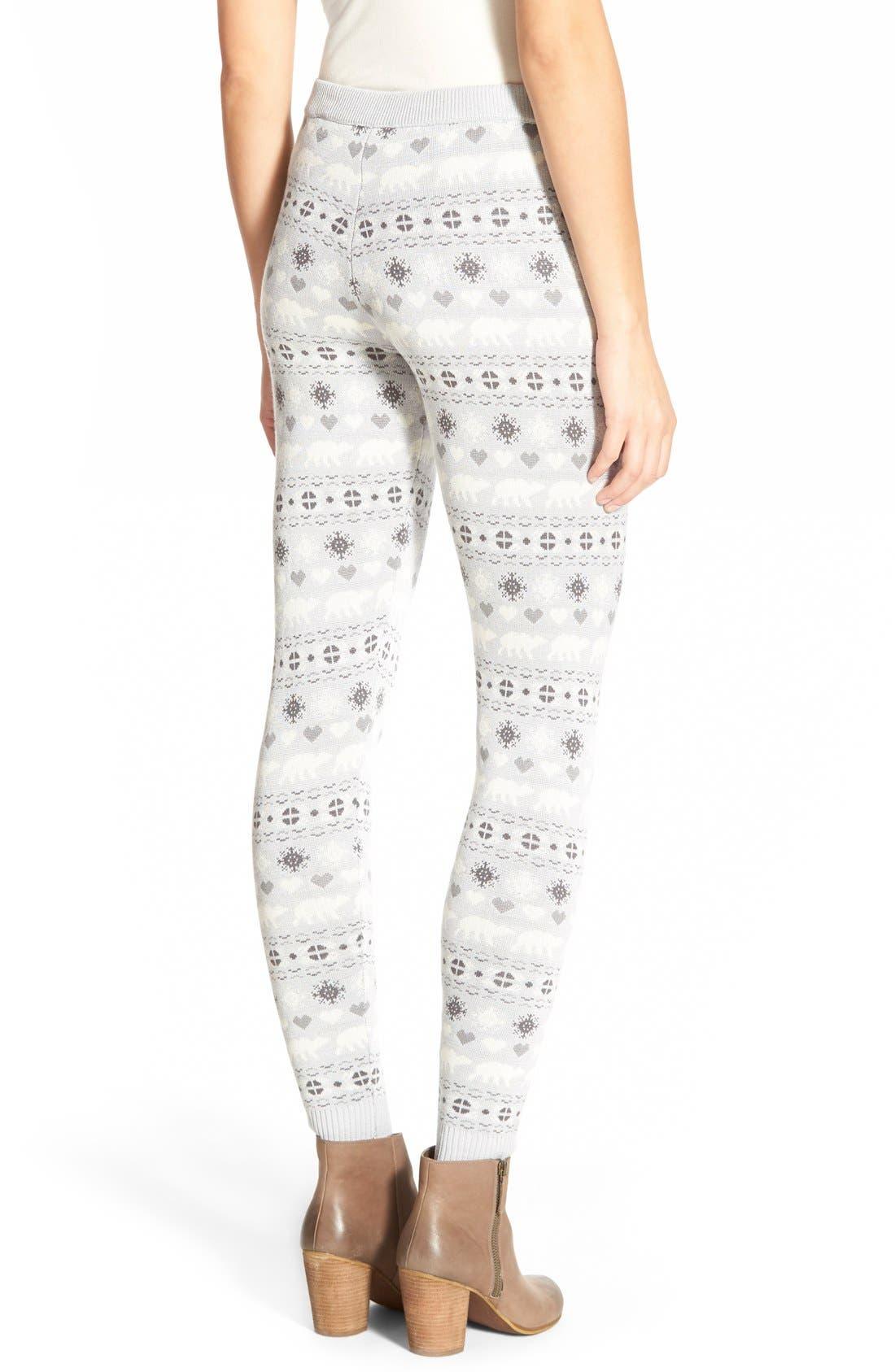 Alternate Image 2  - Love by Design Christmas Print Leggings