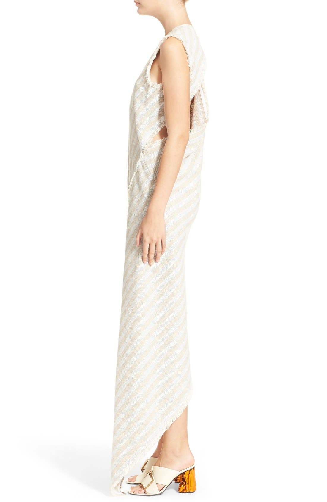 'Cosby' Stripe Sleeveless Dress,                             Alternate thumbnail 6, color,                             Natural Stripe