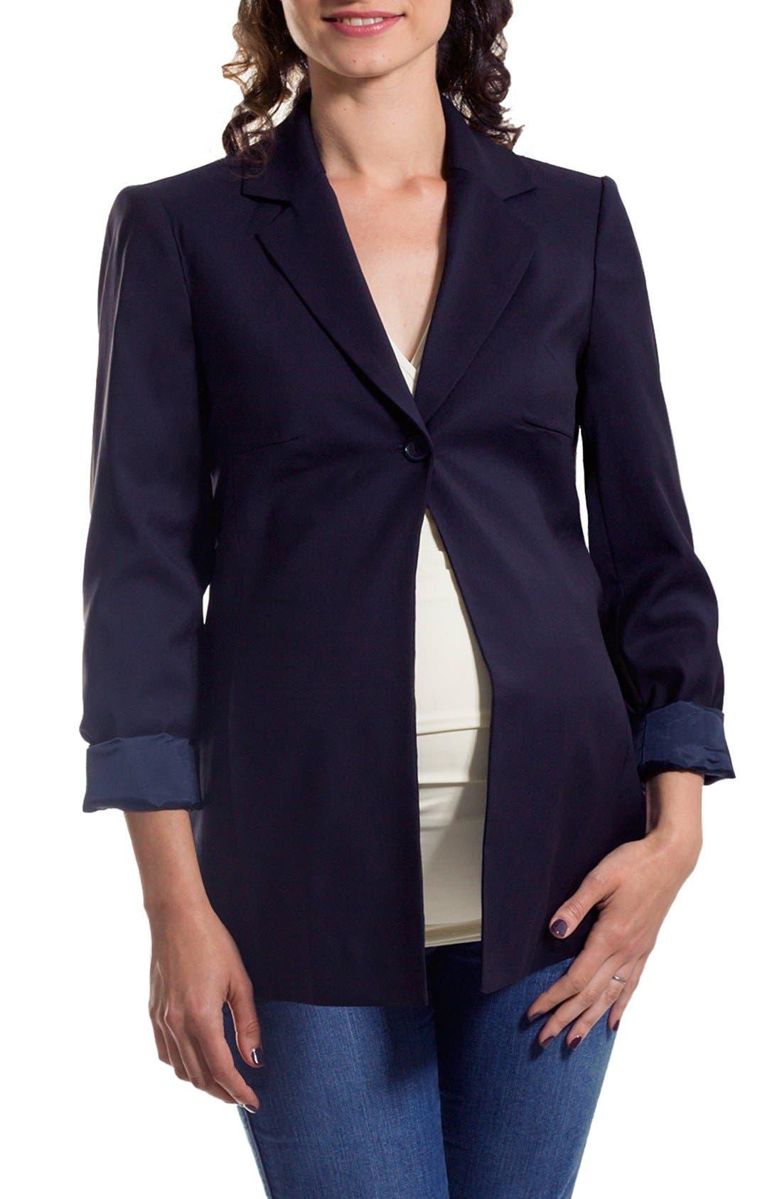 Eva Alexander London Single Button Maternity Jacket