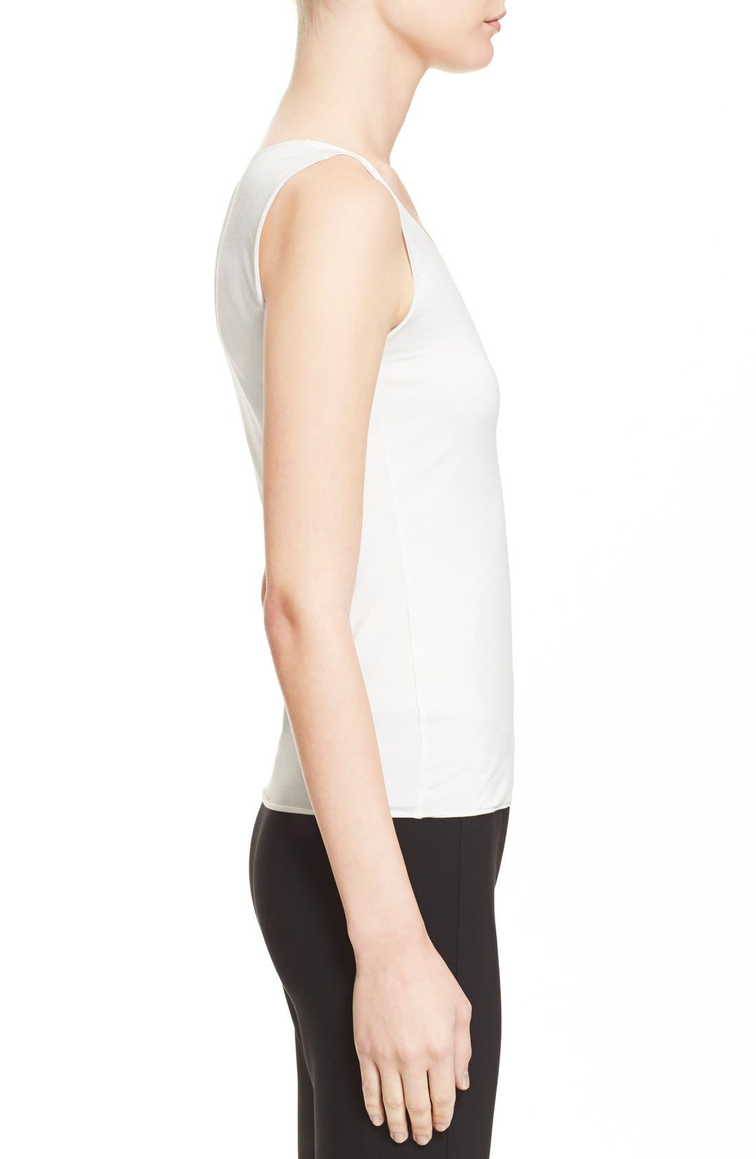 Jersey Tank,                             Alternate thumbnail 5, color,                             Solid White