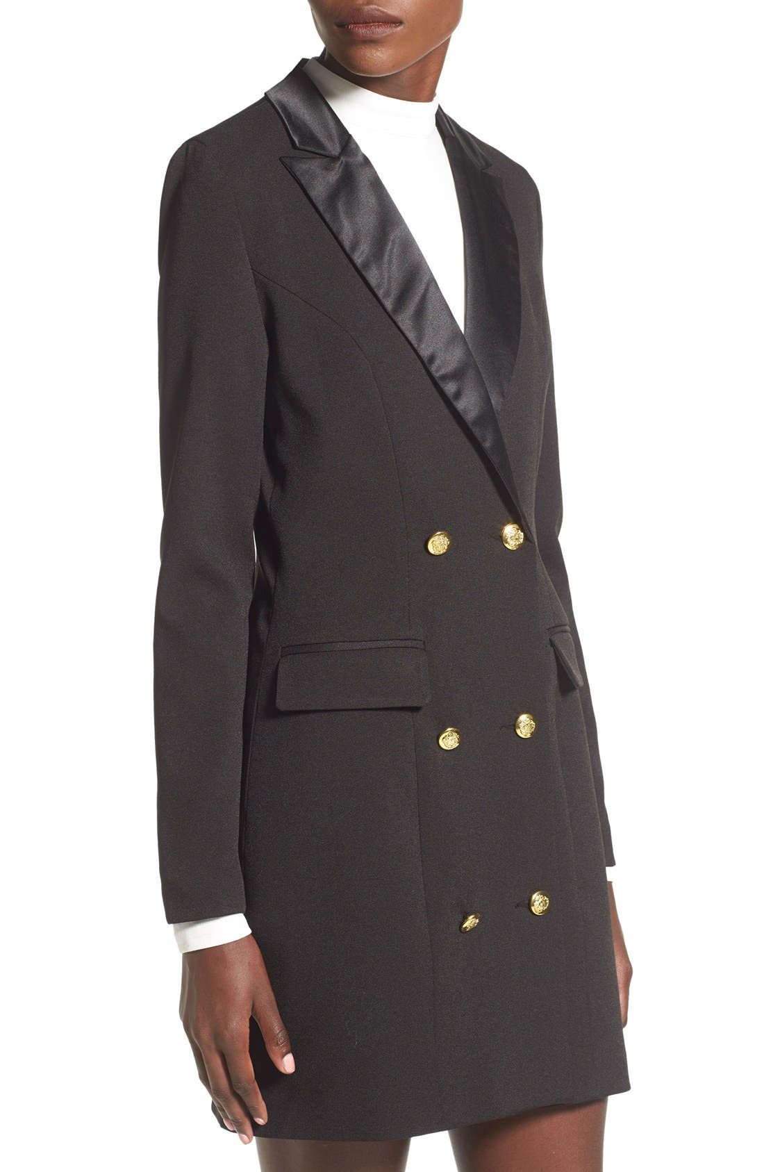 Alternate Image 4  - Missguided Double Breasted Longline Blazer