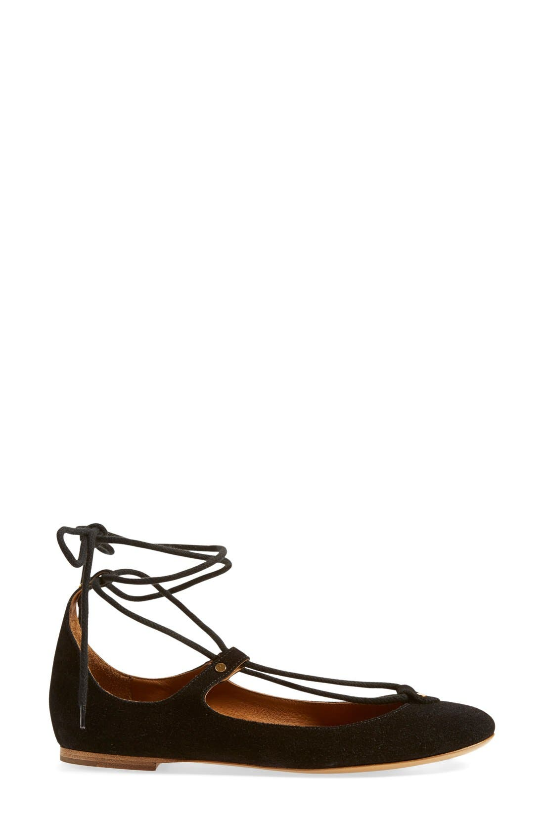 Alternate Image 4  - Chloé 'Foster' Lace-Up Ballet Flat (Women)