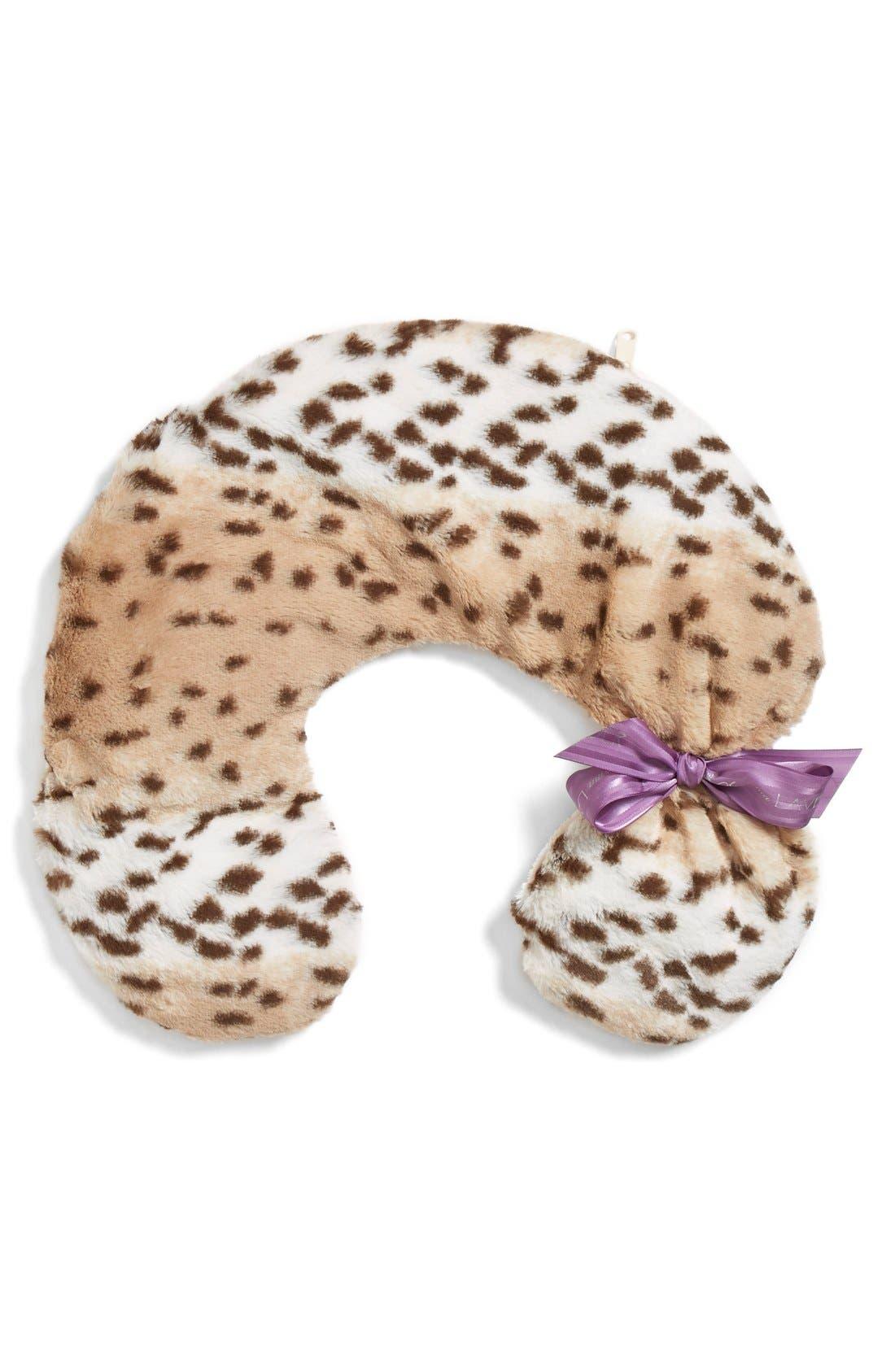 'Snow Leopard' Neck Pillow,                             Main thumbnail 1, color,                             No Color