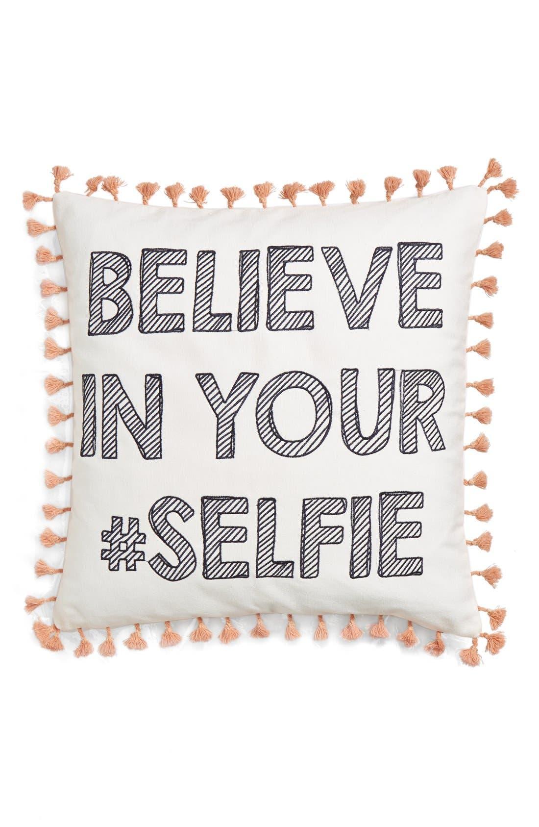 Main Image - Levtex 'Believe In Your #Selfie' Pillow