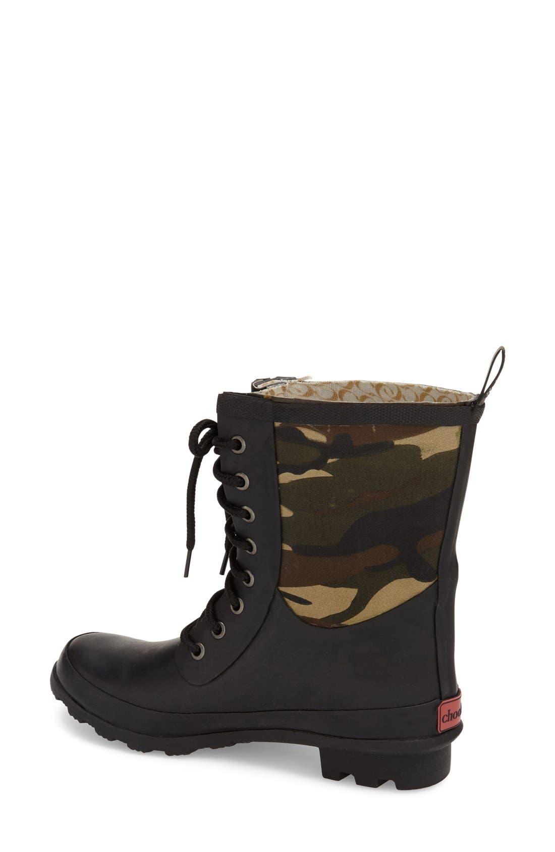 Alternate Image 2  - Chooka 'Cara' Mid High Lace-Up Rain Boot (Women)