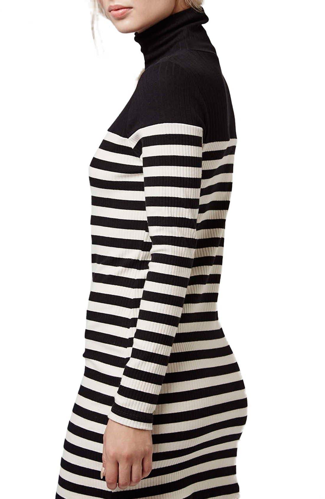 Alternate Image 3  - Topshop Turtleneck Long Sleeve Body-Con Dress (Petite)