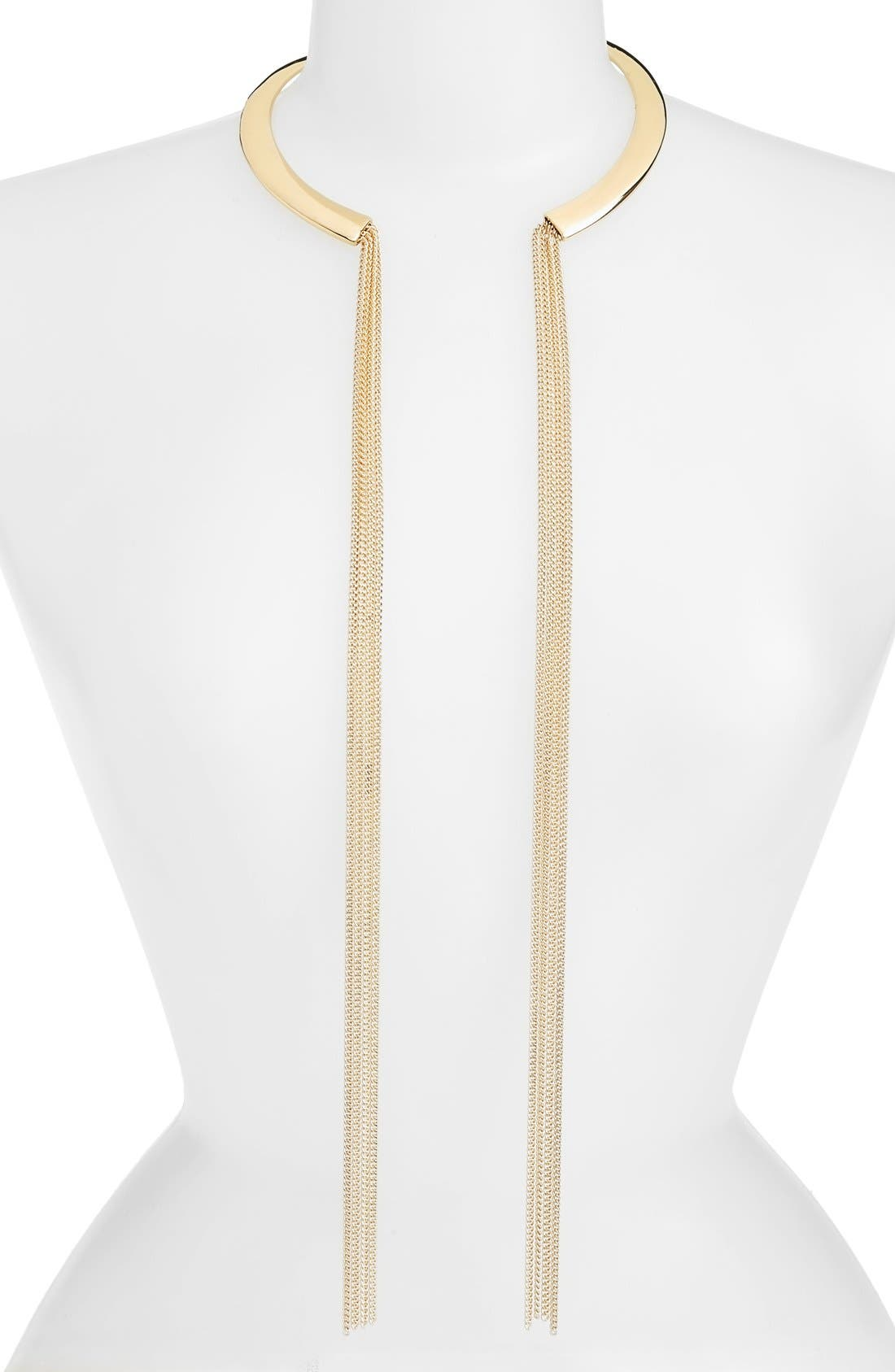 Alternate Image 1 Selected - Nordstrom Chain Tassel Collar Necklace