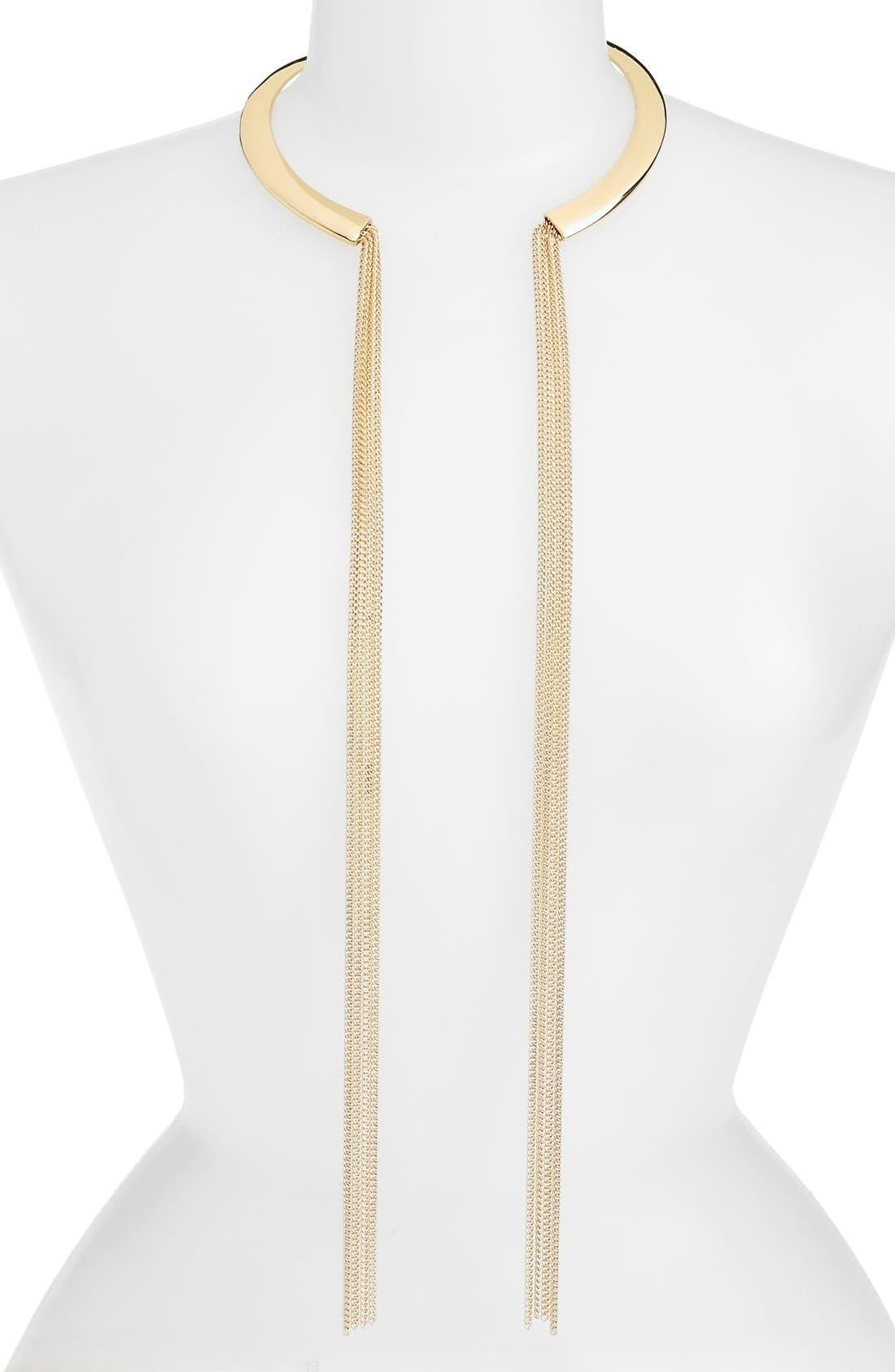 Main Image - Nordstrom Chain Tassel Collar Necklace