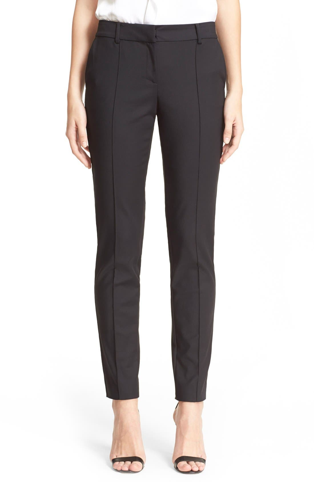 Alternate Image 1 Selected - St. John Collection 'Jennifer' Stretch Micro Ottoman Ankle Pants