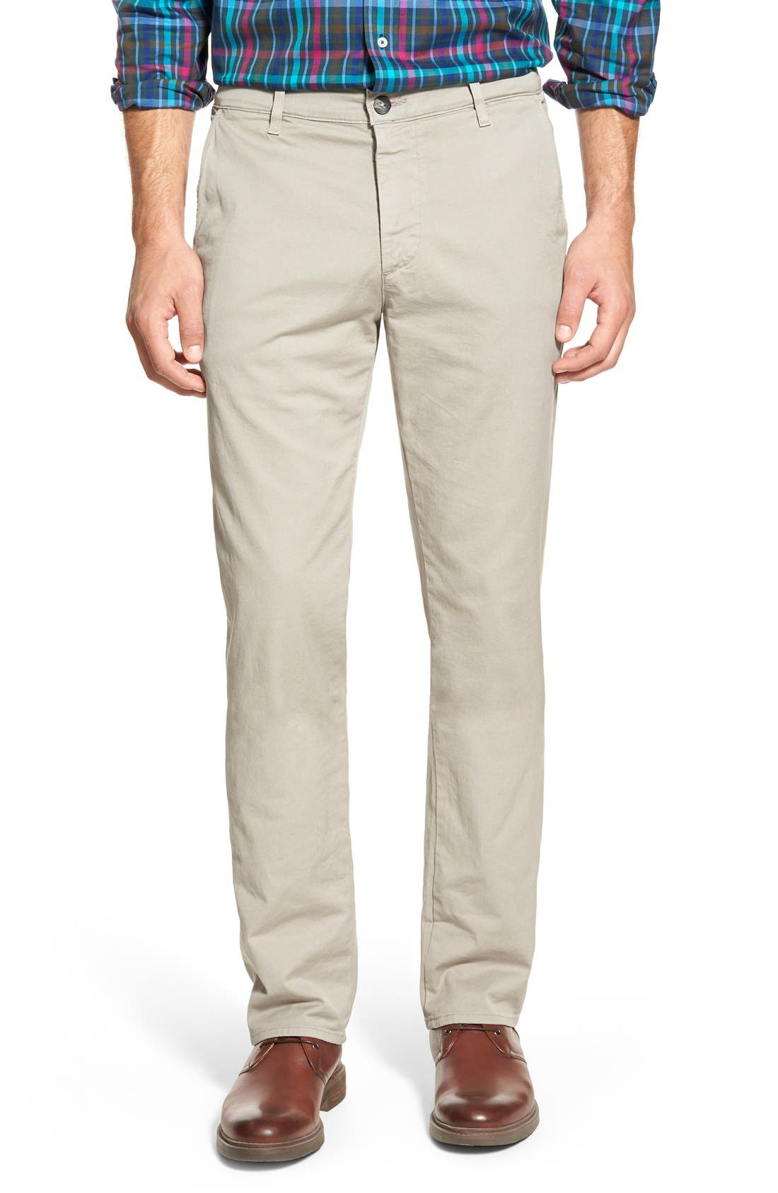 Alternate Image 1 Selected - AG Slim Straight Leg Chinos