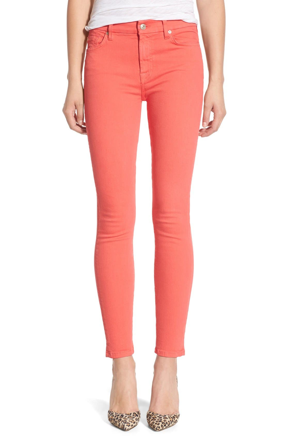 Main Image - 7 For All Mankind® 'Slim Illusion' Colored Ankle Skinny Jeans