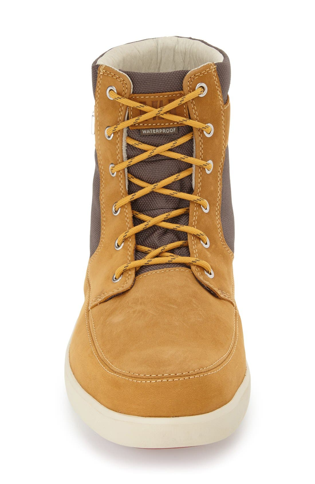 'Stockholm' Waterproof High Top Sneaker,                             Alternate thumbnail 3, color,                             New Wheat