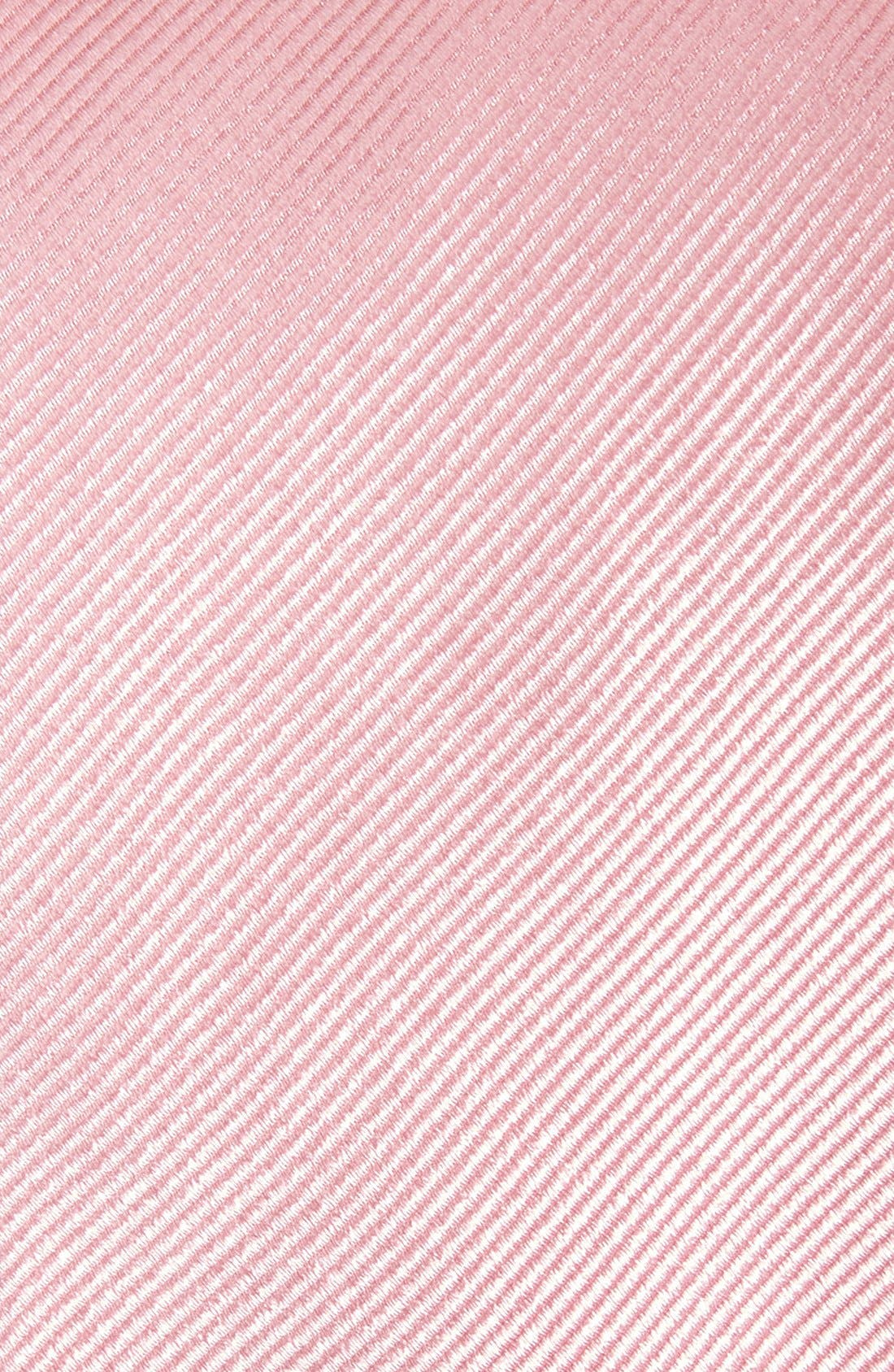 Solid Silk Tie,                             Alternate thumbnail 2, color,                             Pink
