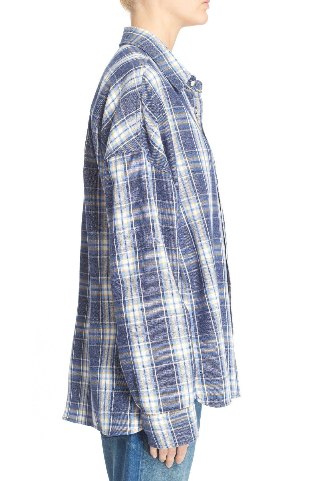 Alternate Image 3  - 6397 'Lori' Cotton Flannel Shirt