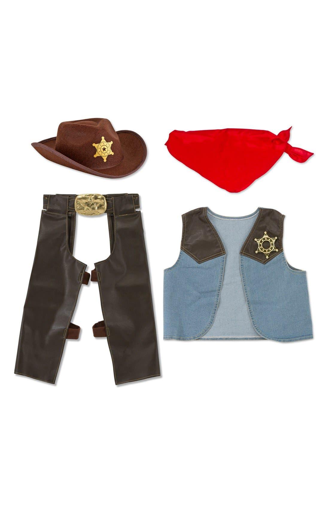 Cowboy Role Play Set,                             Alternate thumbnail 2, color,                             Brown