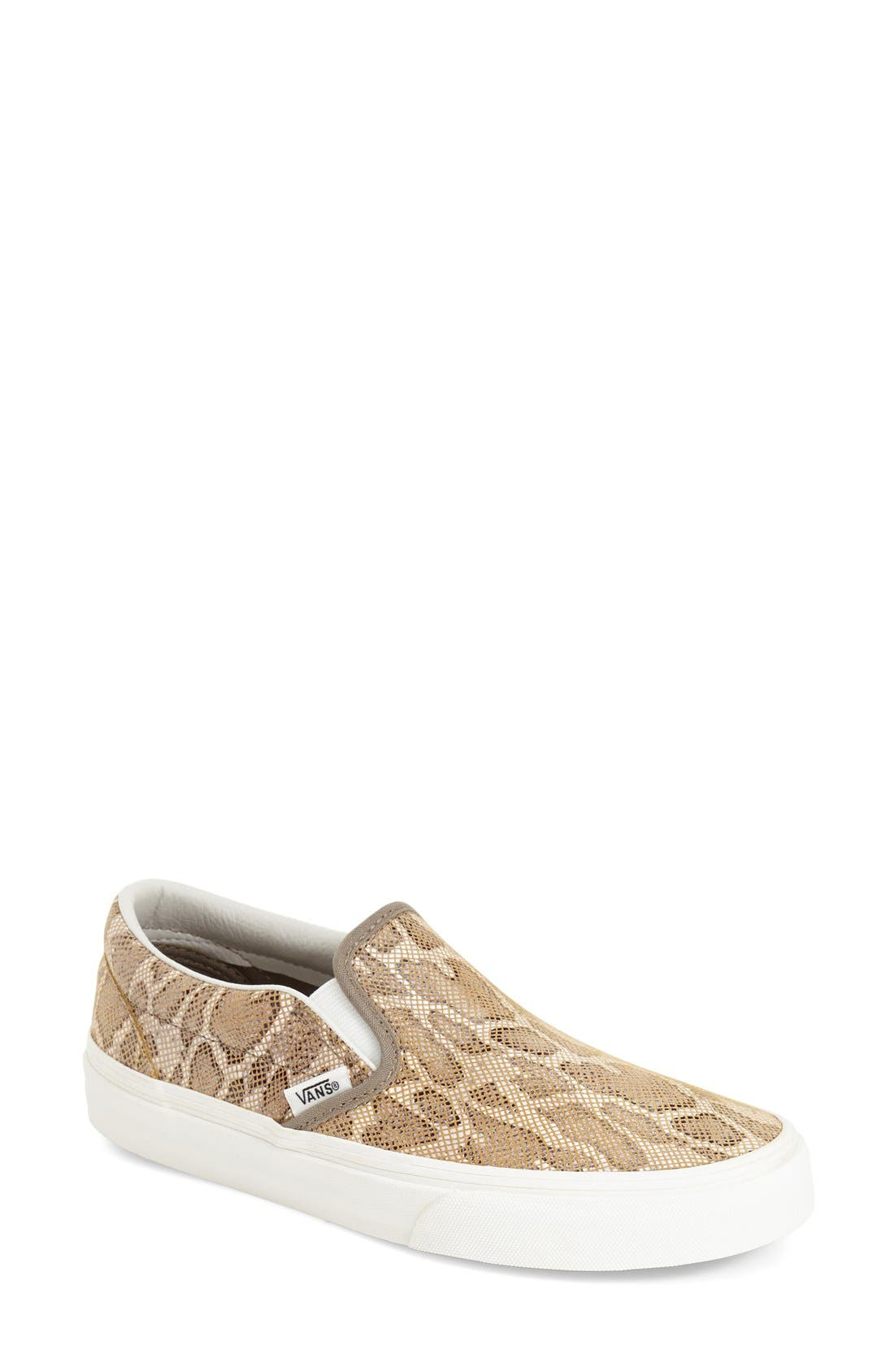 Alternate Image 1 Selected - Vans 'Classic' Leopard Print Slip-On (Women)