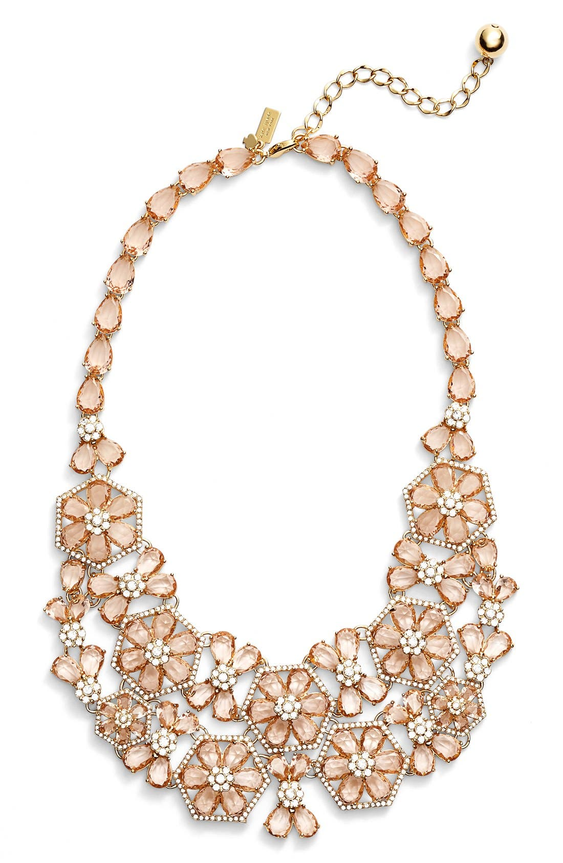 Main Image - kate spade new york 'at first blush' floral bib necklace