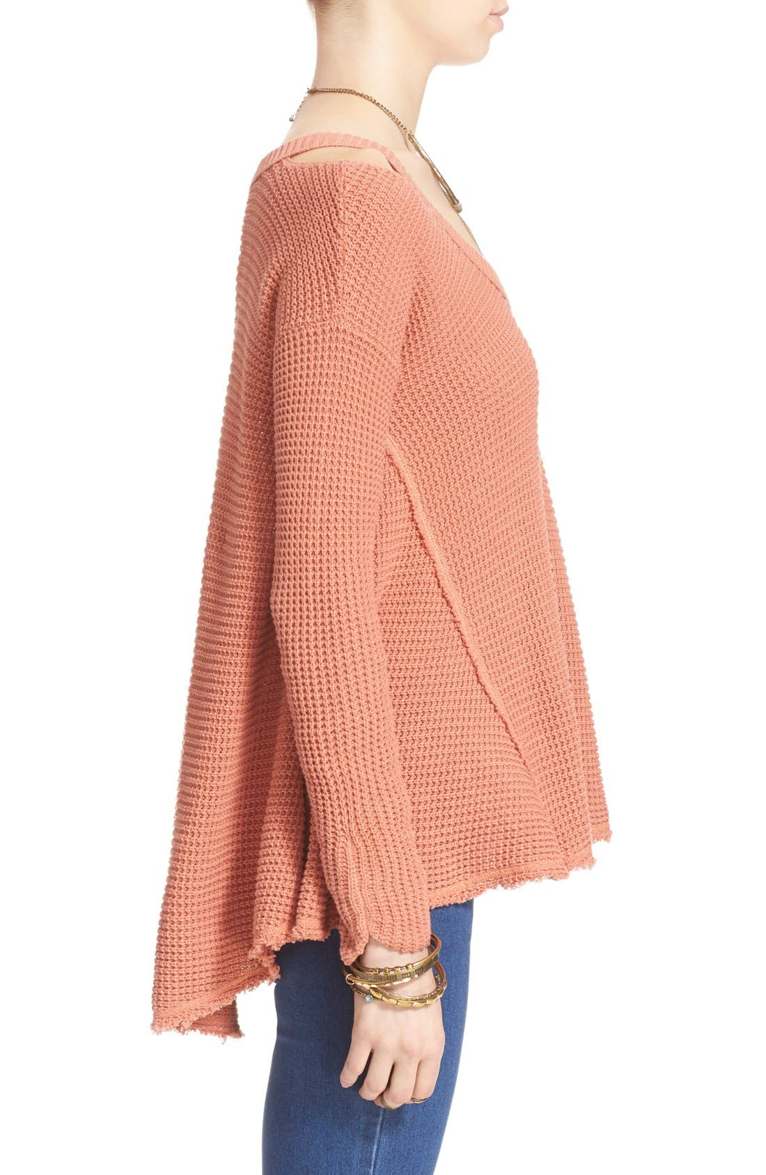 Alternate Image 3  - Free People 'Moonshine V' Cold Shoulder Sweater