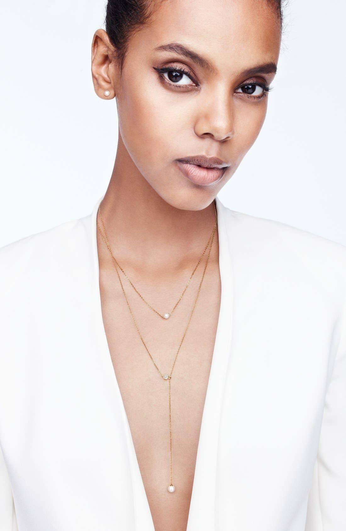 Alternate Image 4  - Nadri Faux Pearl Long Y-Necklace