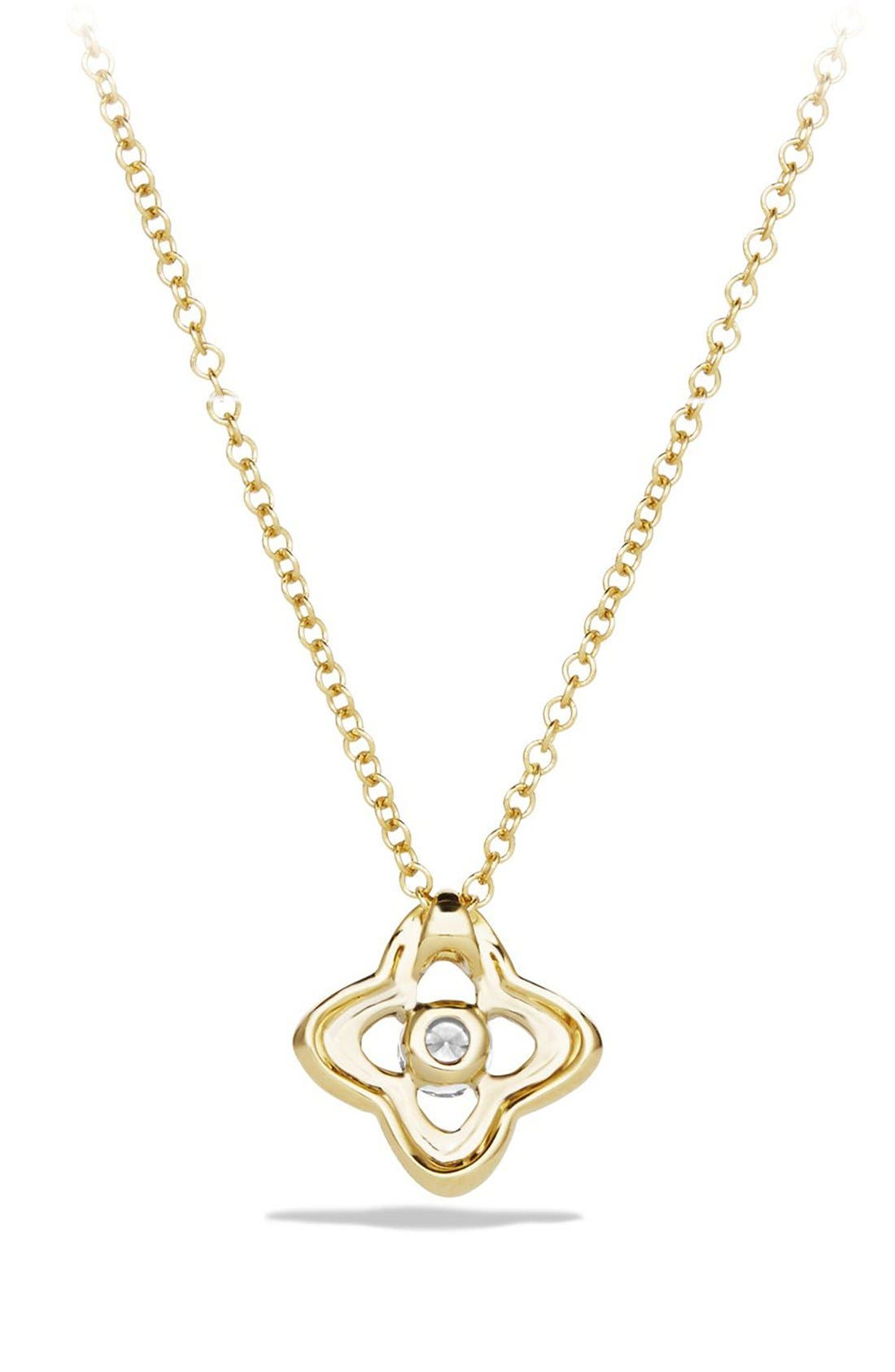 Alternate Image 3  - David Yurman 'Venetian Quatrefoil' Necklace with Diamonds in Gold