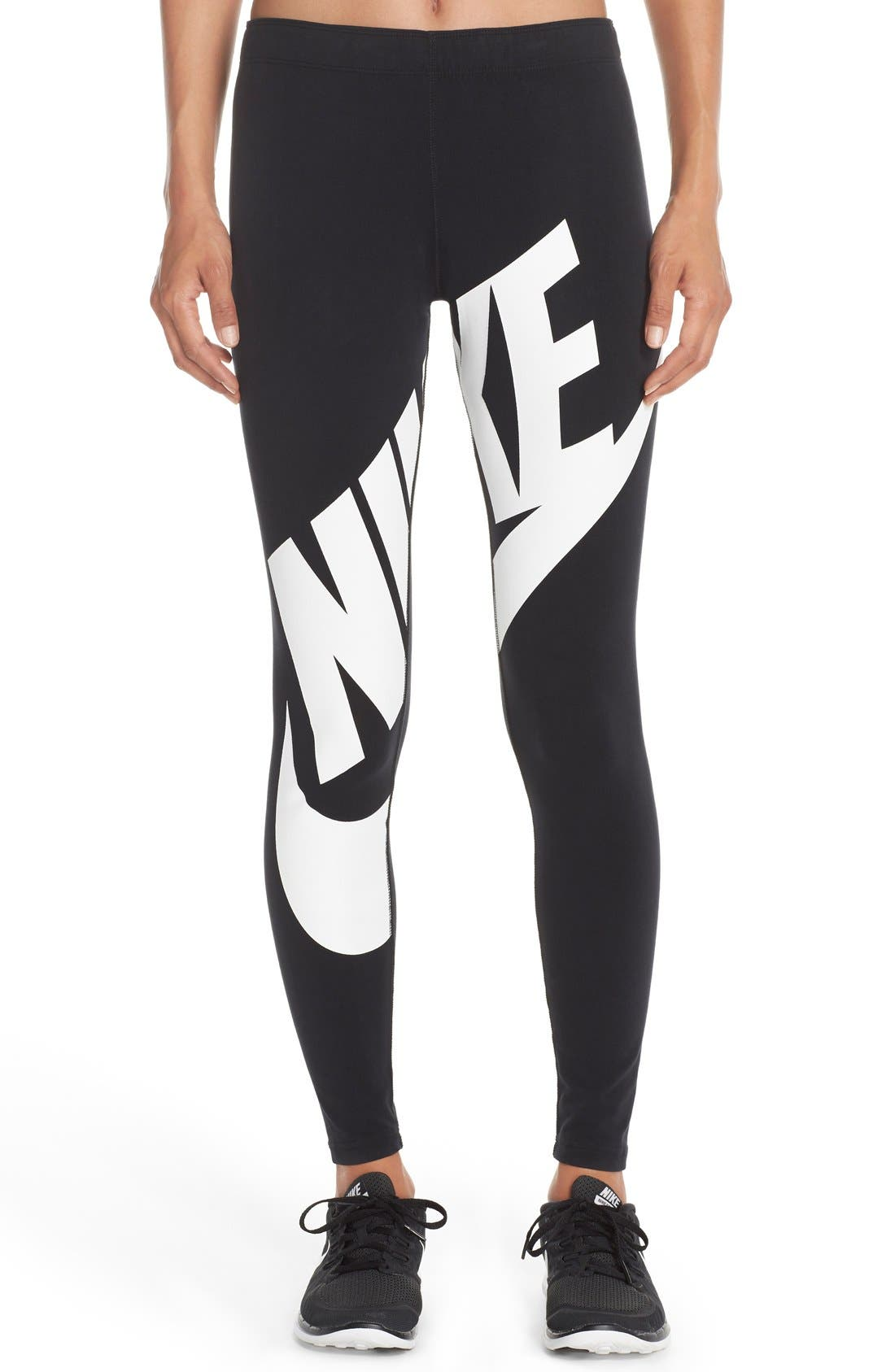 Main Image - Nike 'Leg-A-See' Exploded Logo Leggings