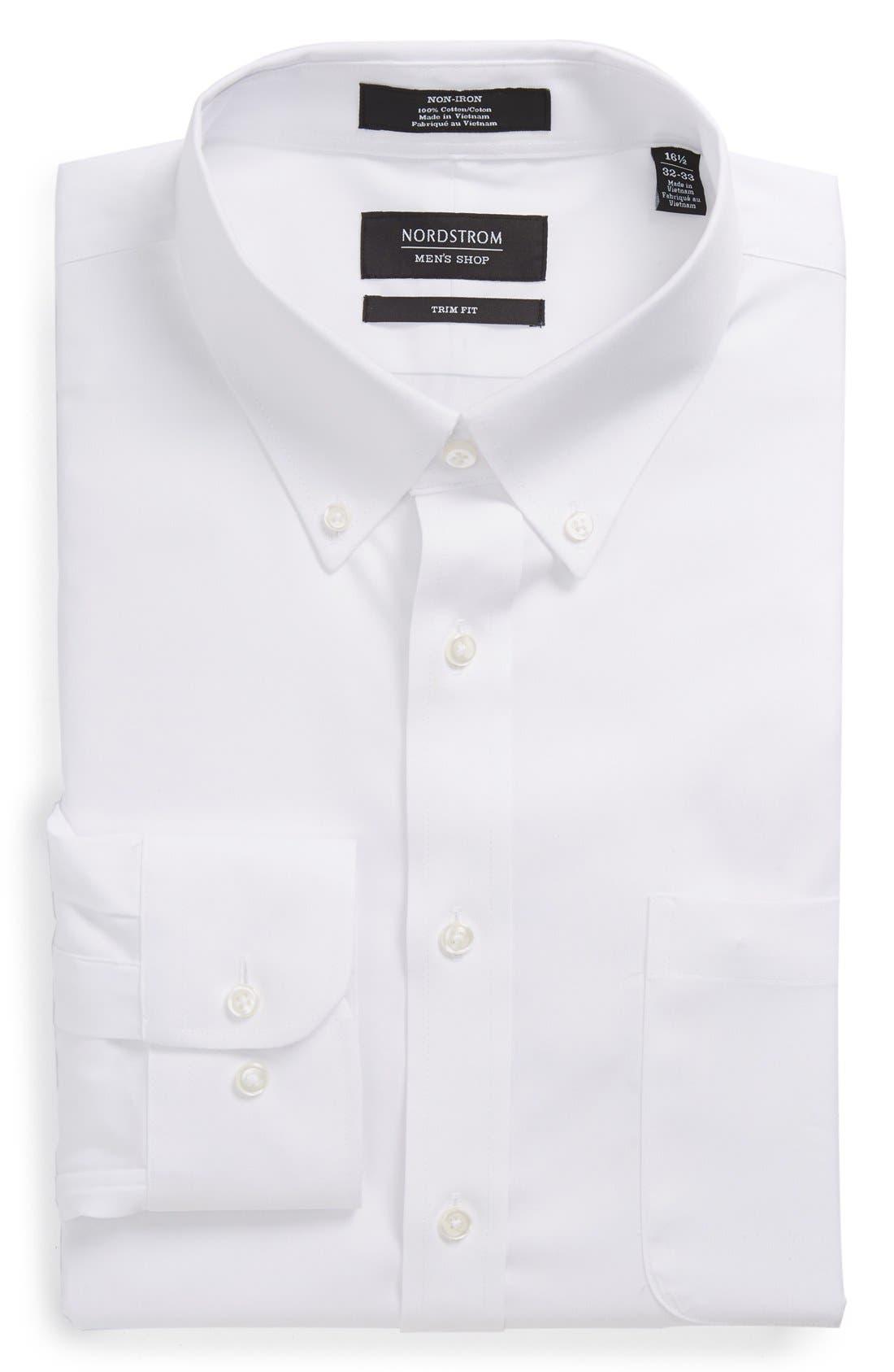 Alternate Image 4  - Nordstrom Men's Shop Trim Fit Non-Iron Dress Shirt