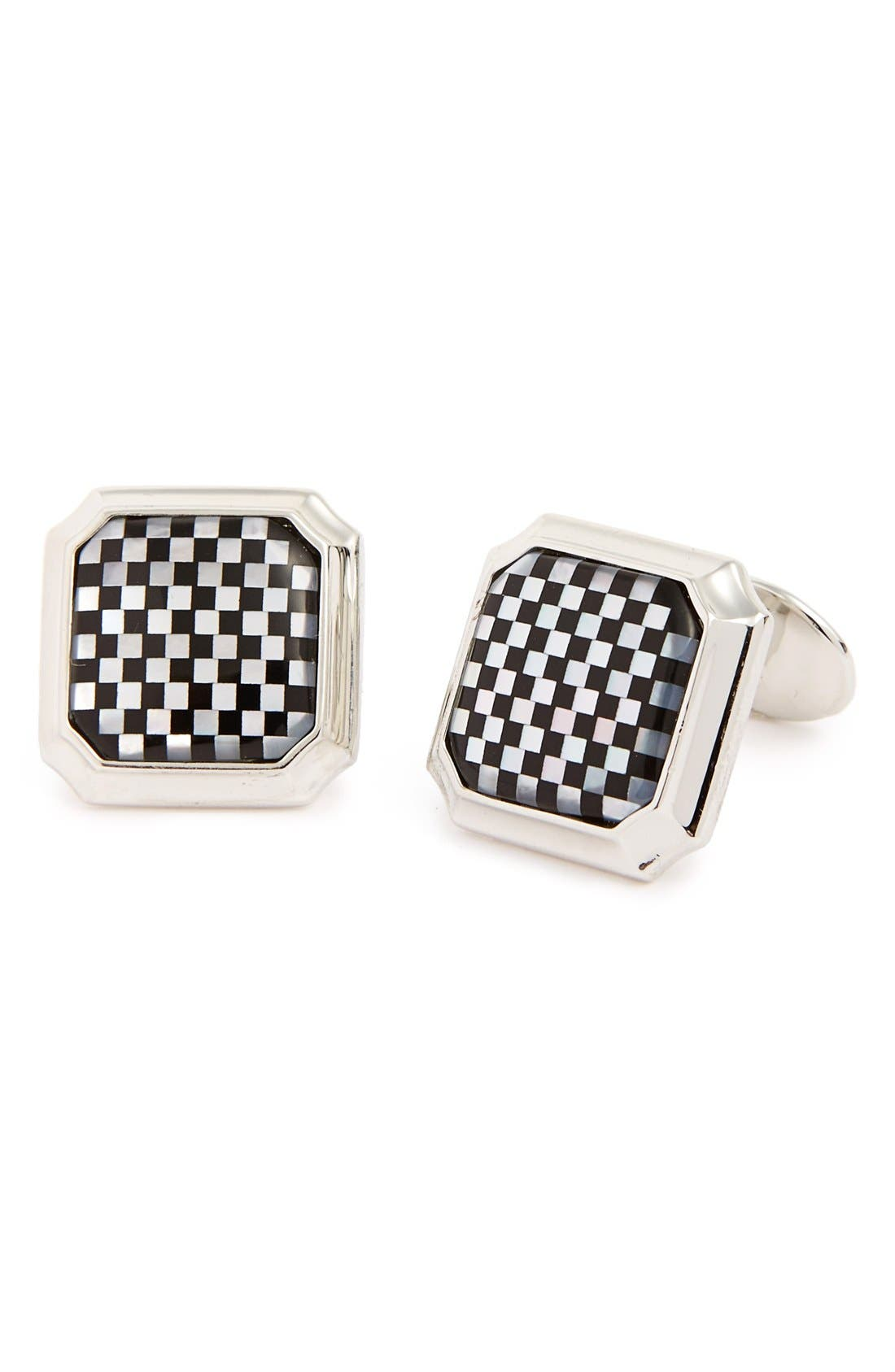 DAVID DONAHUE Sterling Silver Cuff Links