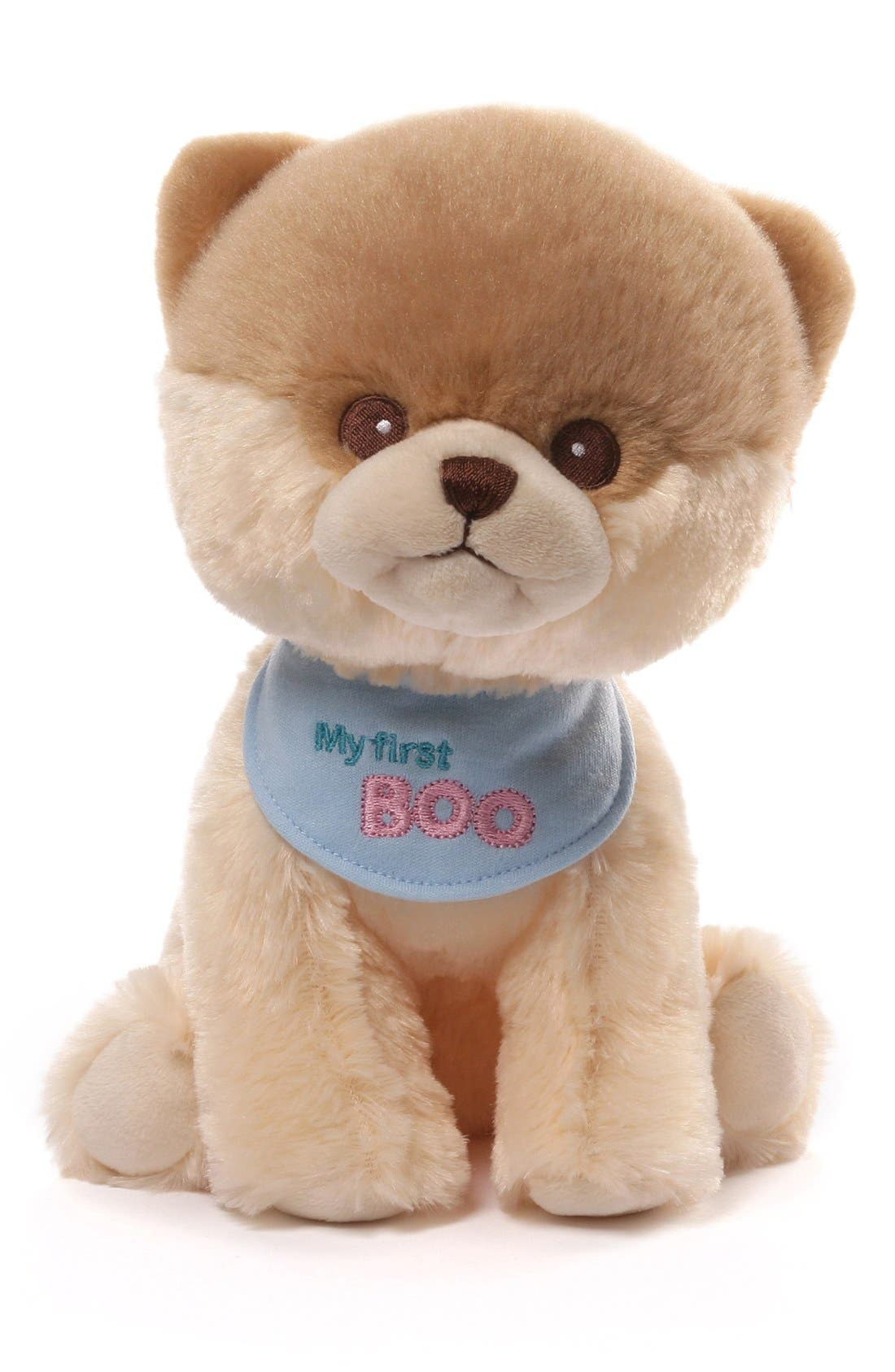'My First Boo' Stuffed Animal,                             Main thumbnail 1, color,                             Beige