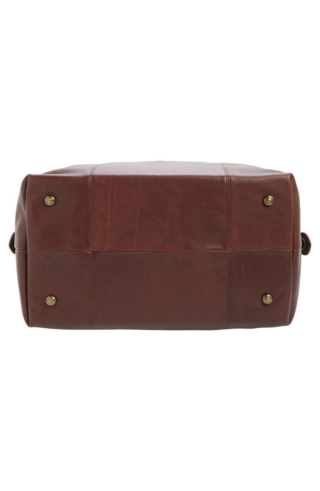 Alternate Image 4  - Barbour Leather Travel Bag