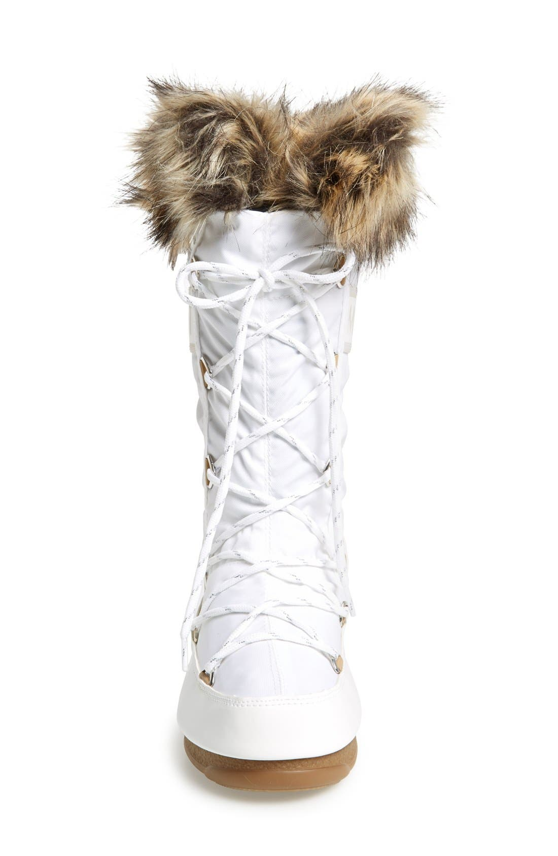 'Monaco' Waterproof Insulated Moon Boot<sup>®</sup>,                             Alternate thumbnail 3, color,                             White