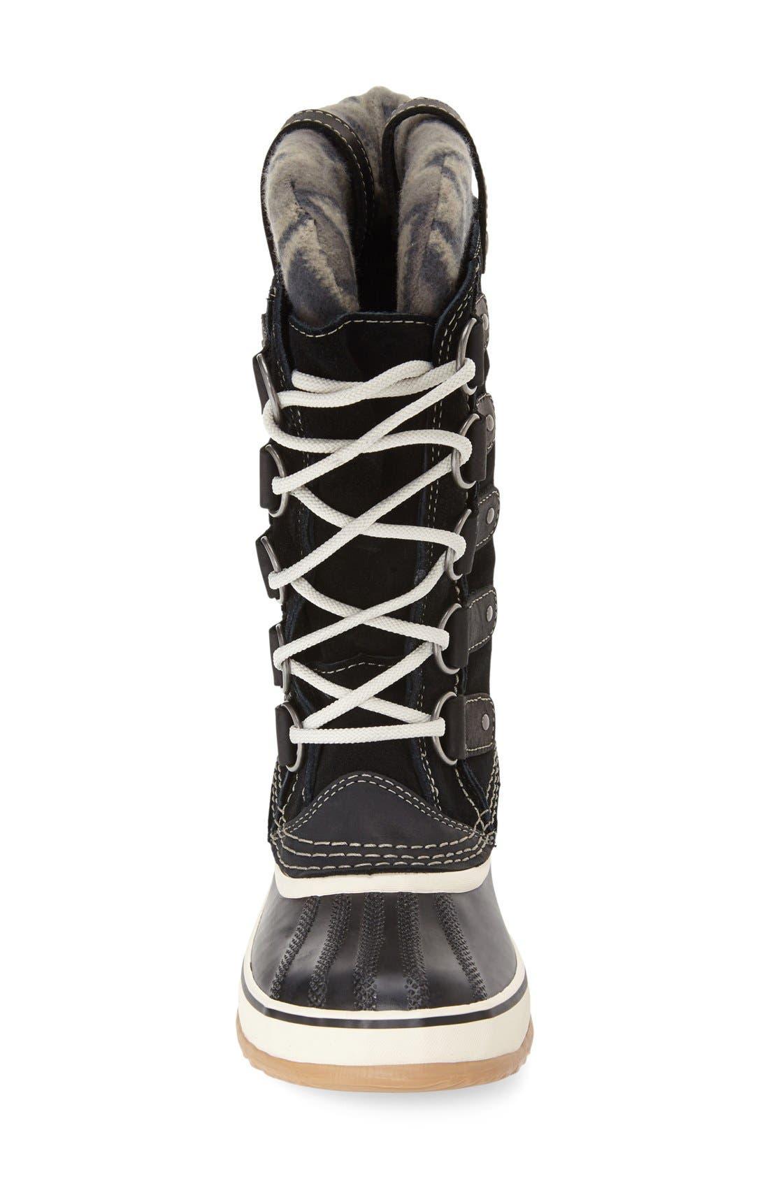 'Joan of Arctic - Knit II' Waterproof Boot,                             Alternate thumbnail 3, color,                             Black