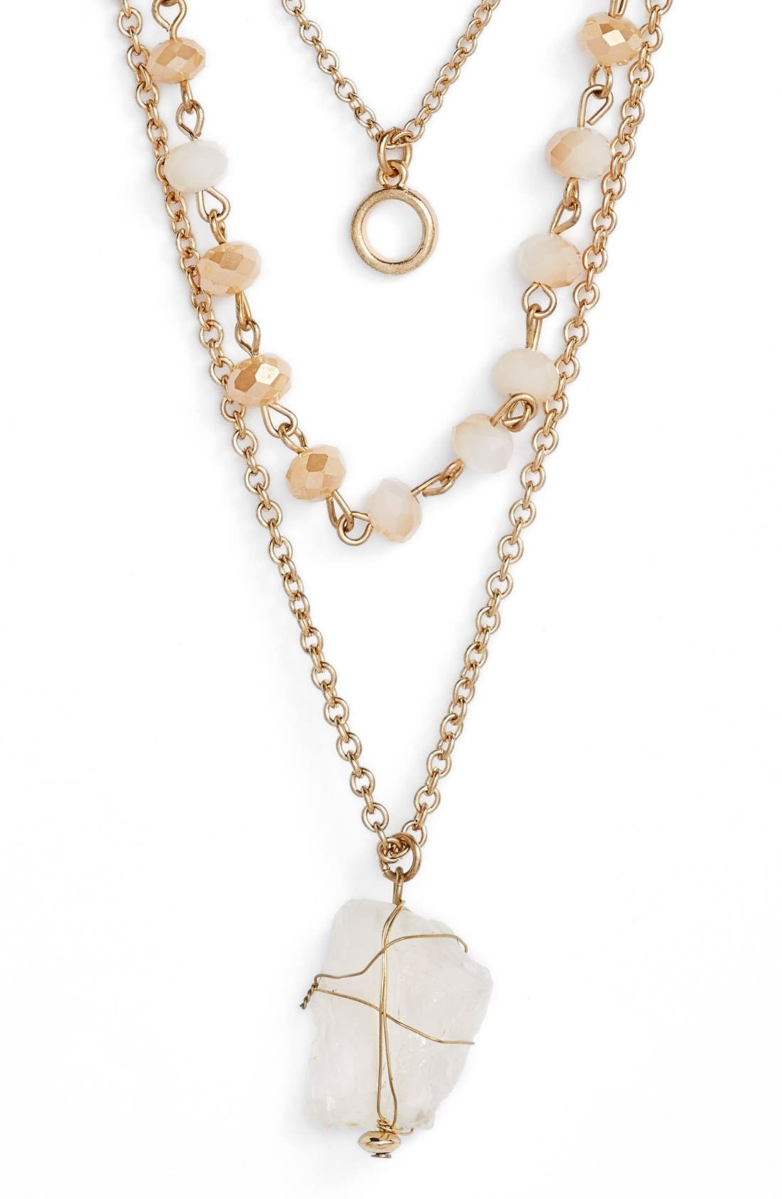Main Image - Panacea Clear Stone Layered Necklace