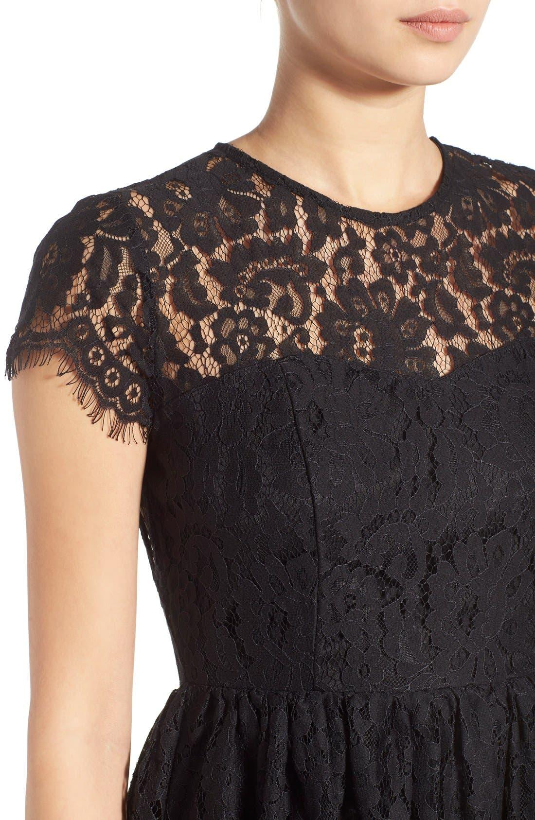 Alternate Image 4  - Glamorous Lace Open Back Fit & Flare Dress