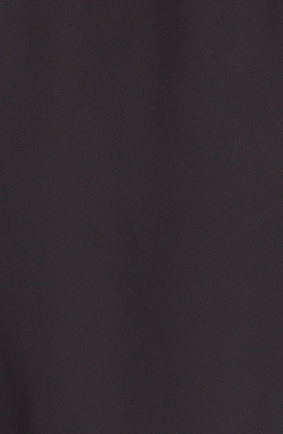 'Jaylis' Silk Shirtdress,                             Alternate thumbnail 5, color,                             Black