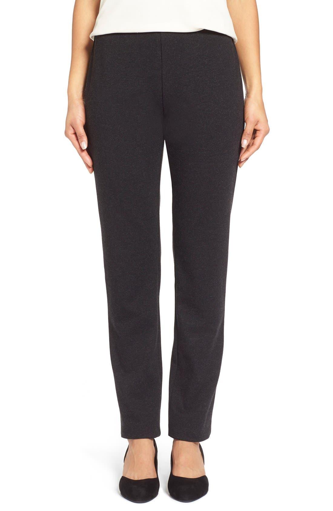 Alternate Image 1 Selected - Eileen Fisher Skinny Ponte Pants (Regular & Petite)