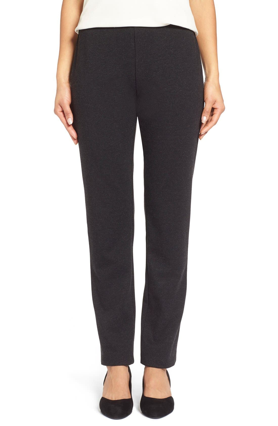 Skinny Ponte Pants,                         Main,                         color, Charcoal